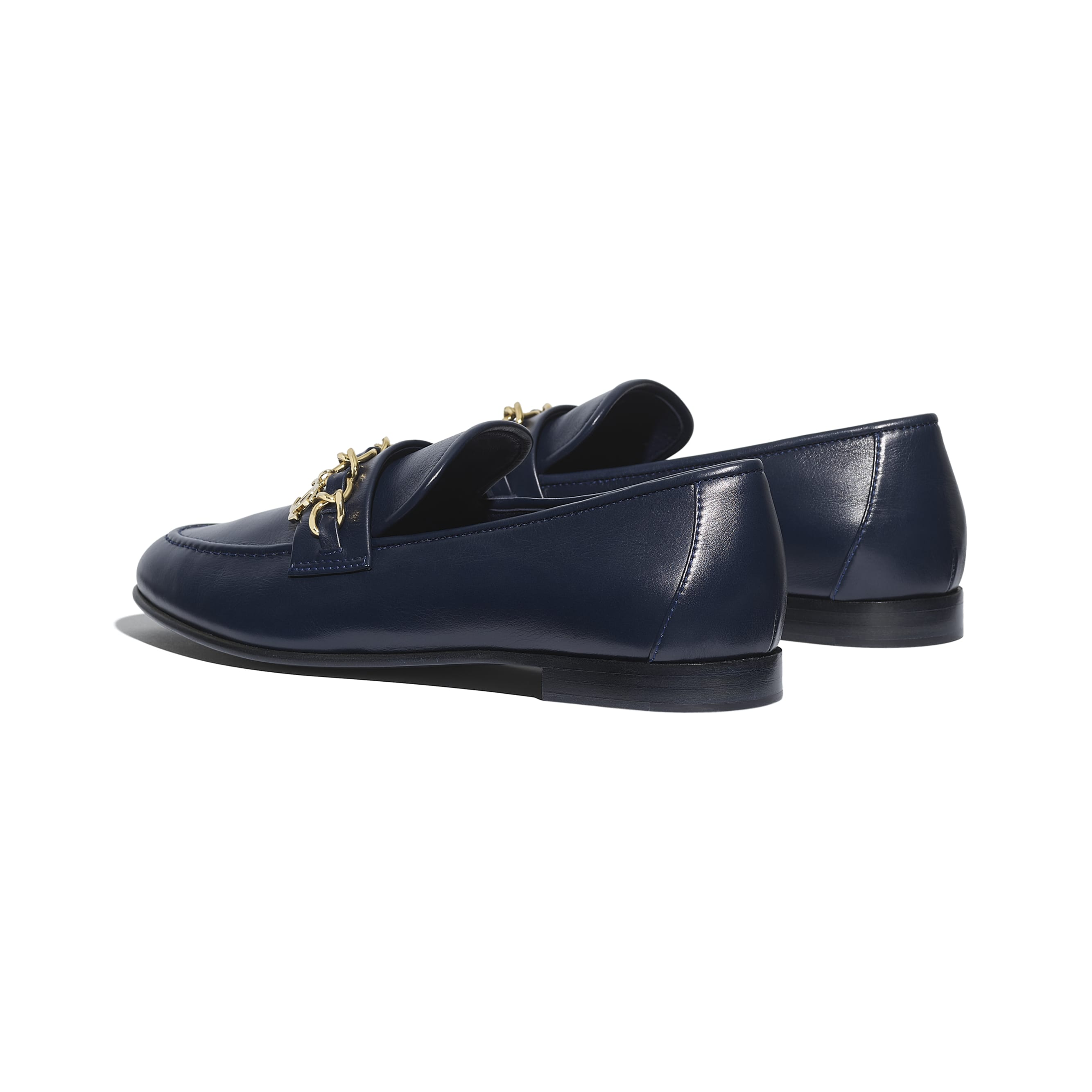 Loafers - Navy Blue - Lambskin - CHANEL - Other view - see standard sized version