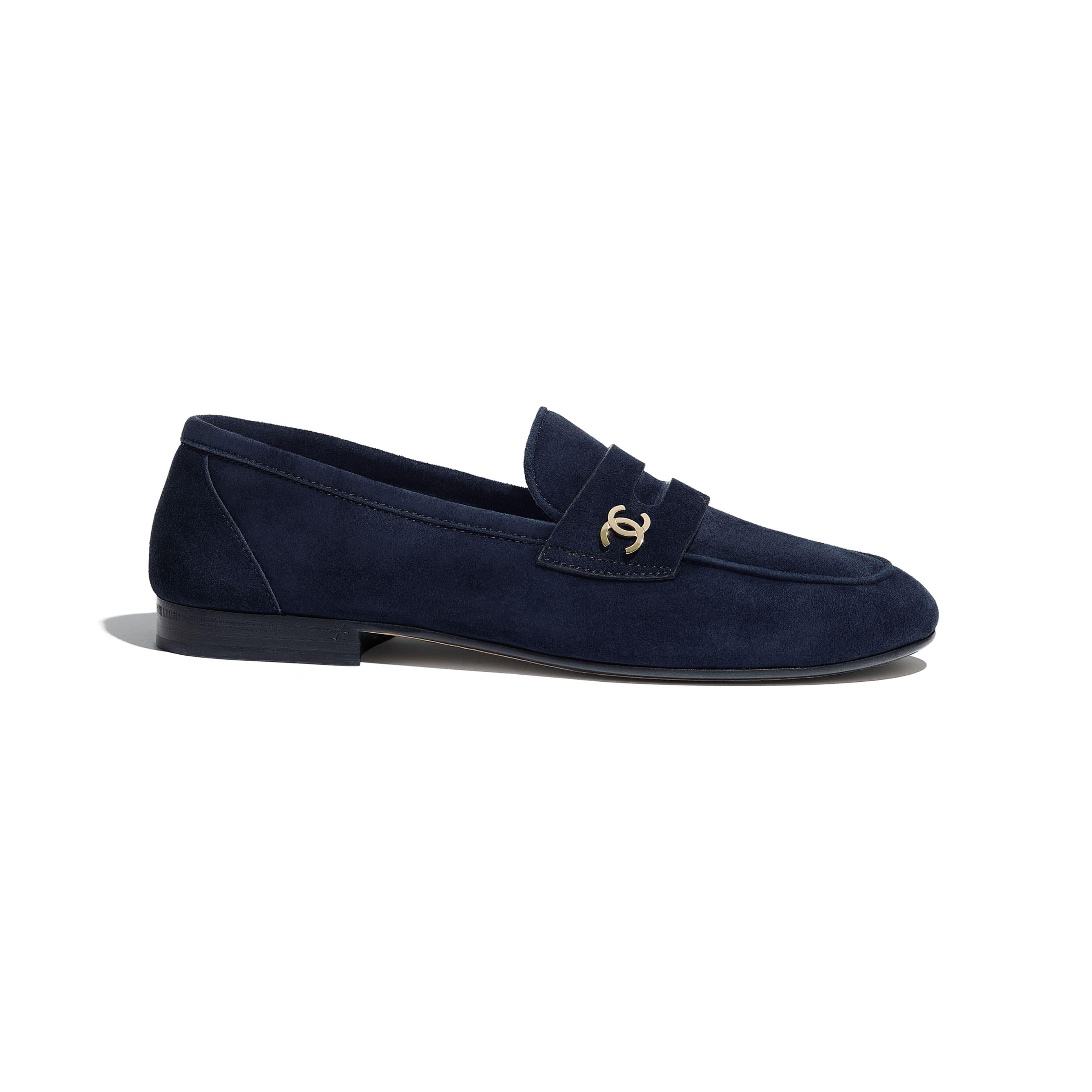 樂福鞋 - 海軍藍 - 小牛麂皮 - CHANEL - 預設視圖 - 查看標準尺寸版本