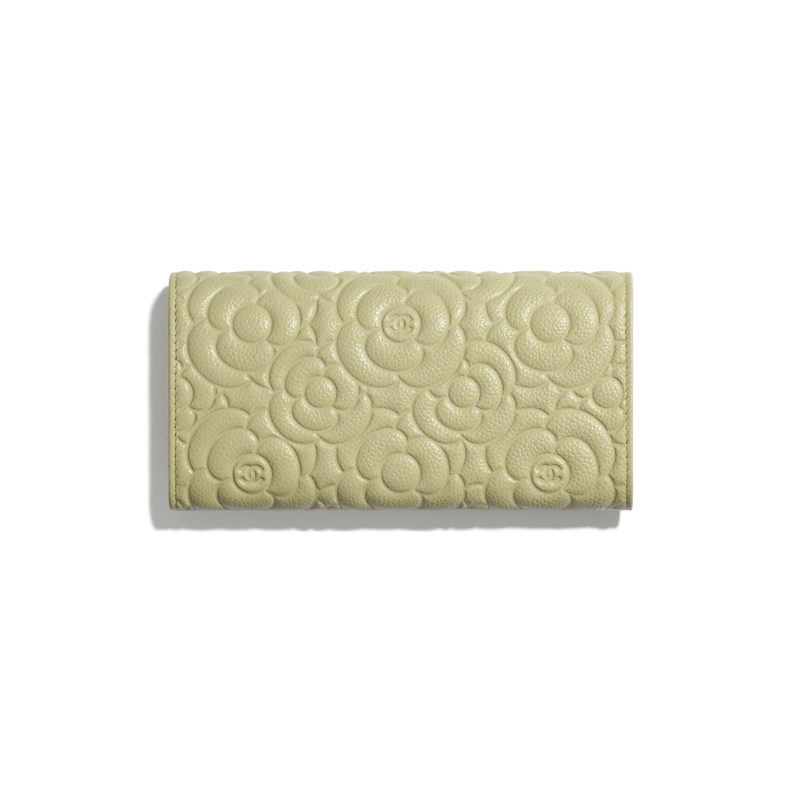Long portefeuille à rabat - Vert - Veau grainé & métal argenté - CHANEL - Vue alternative - voir la version taille standard