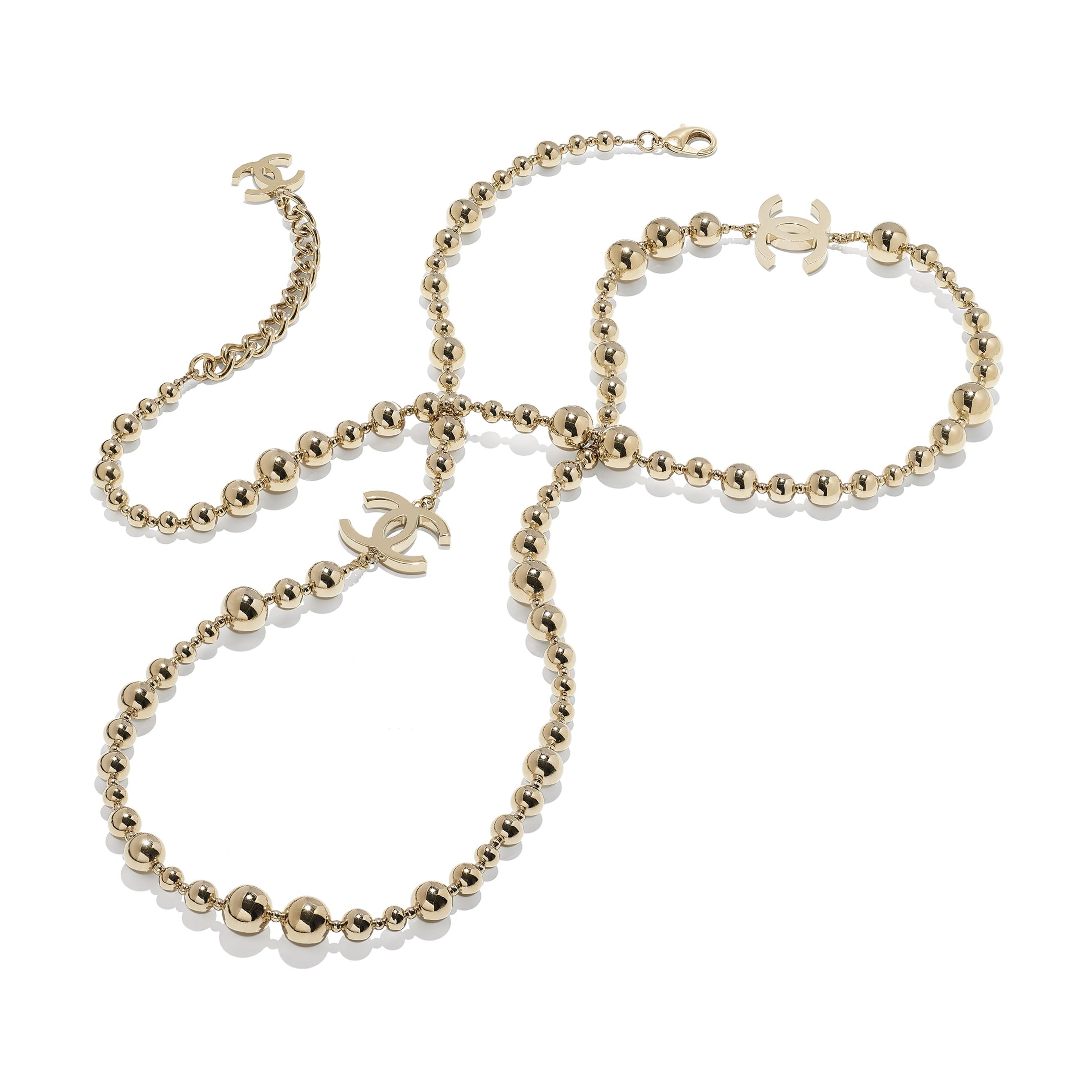 Lange Halskette - Goldfarben - Metall - CHANEL - Alternative Ansicht - Standardgröße anzeigen