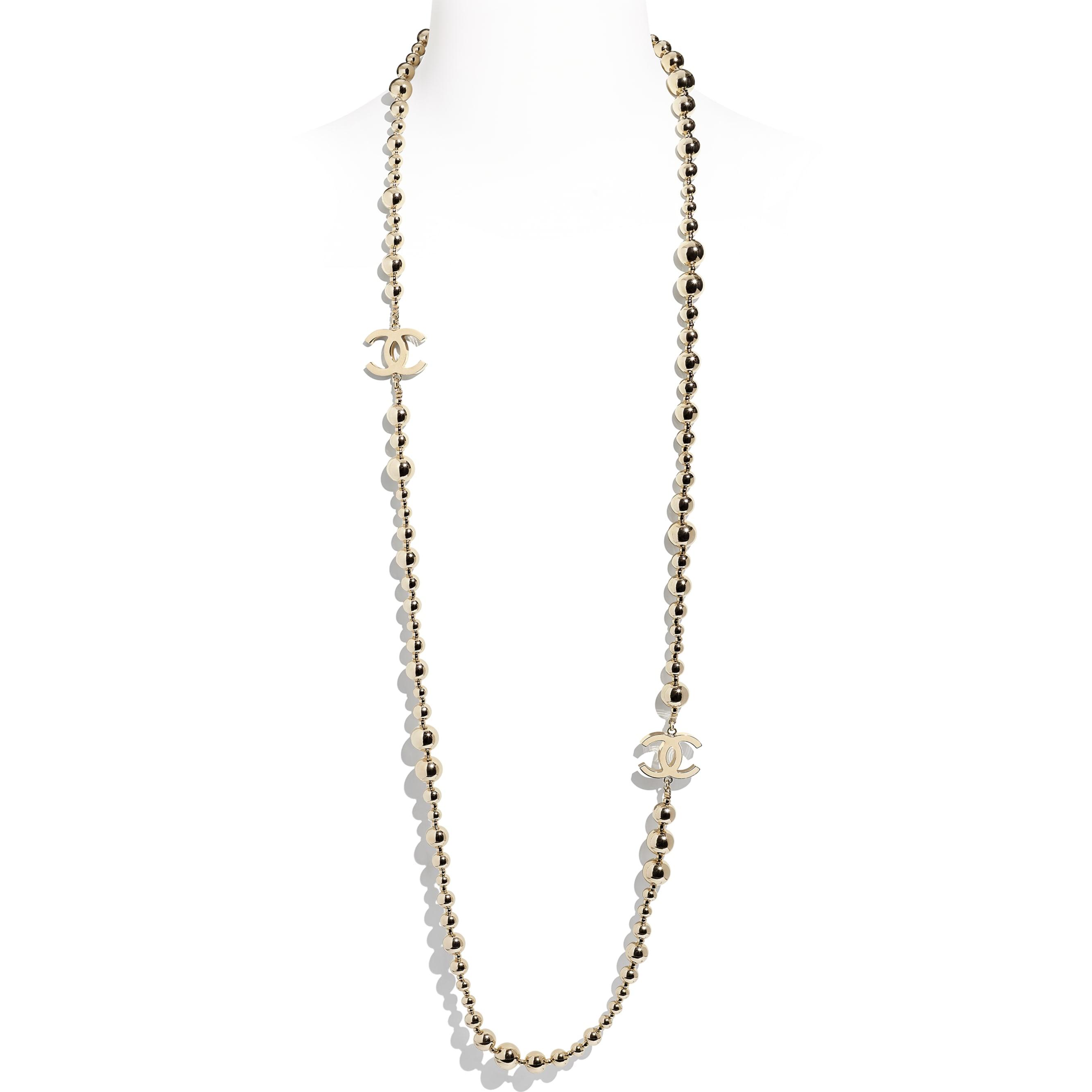Lange Halskette - Goldfarben - Metall - CHANEL - Standardansicht - Standardgröße anzeigen