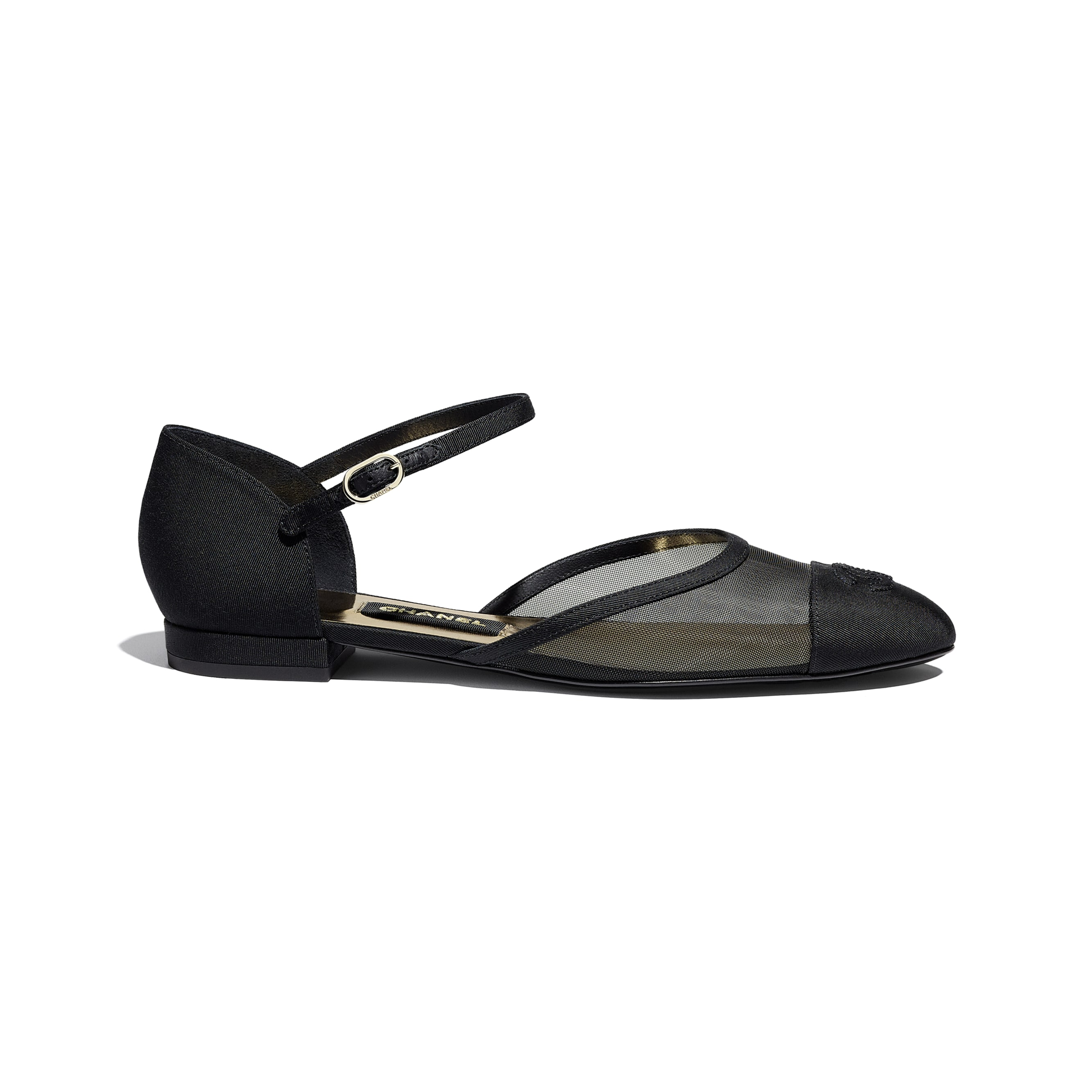 Mary Janes  - Black - Mesh & Grosgrain - CHANEL - Default view - see standard sized version