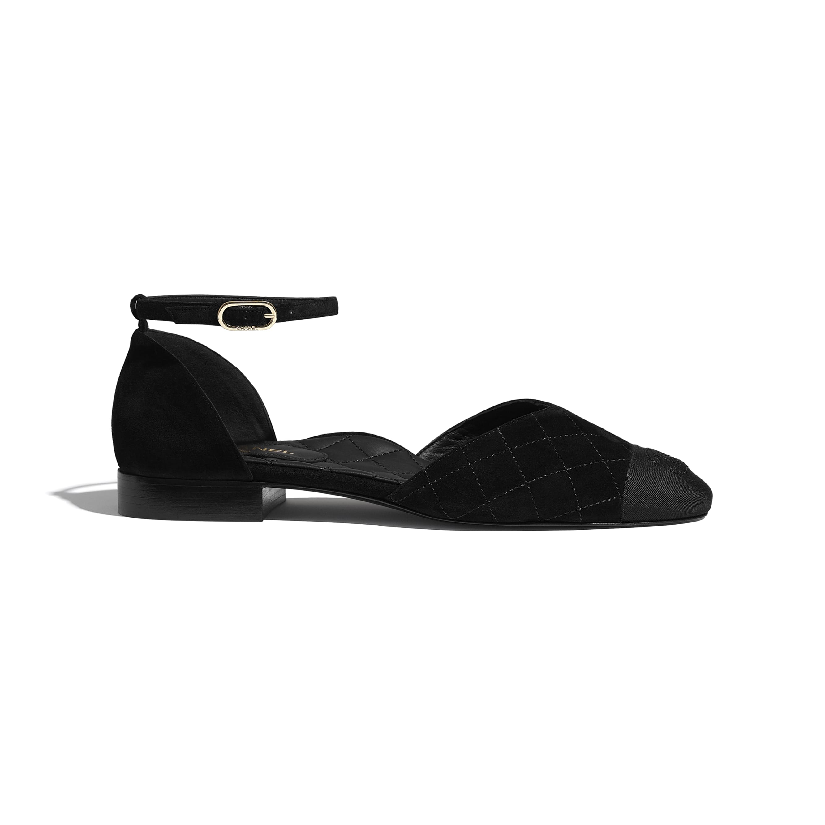 Mary Janes  - Black - Suede Calfskin & Grosgrain - CHANEL - Default view - see standard sized version