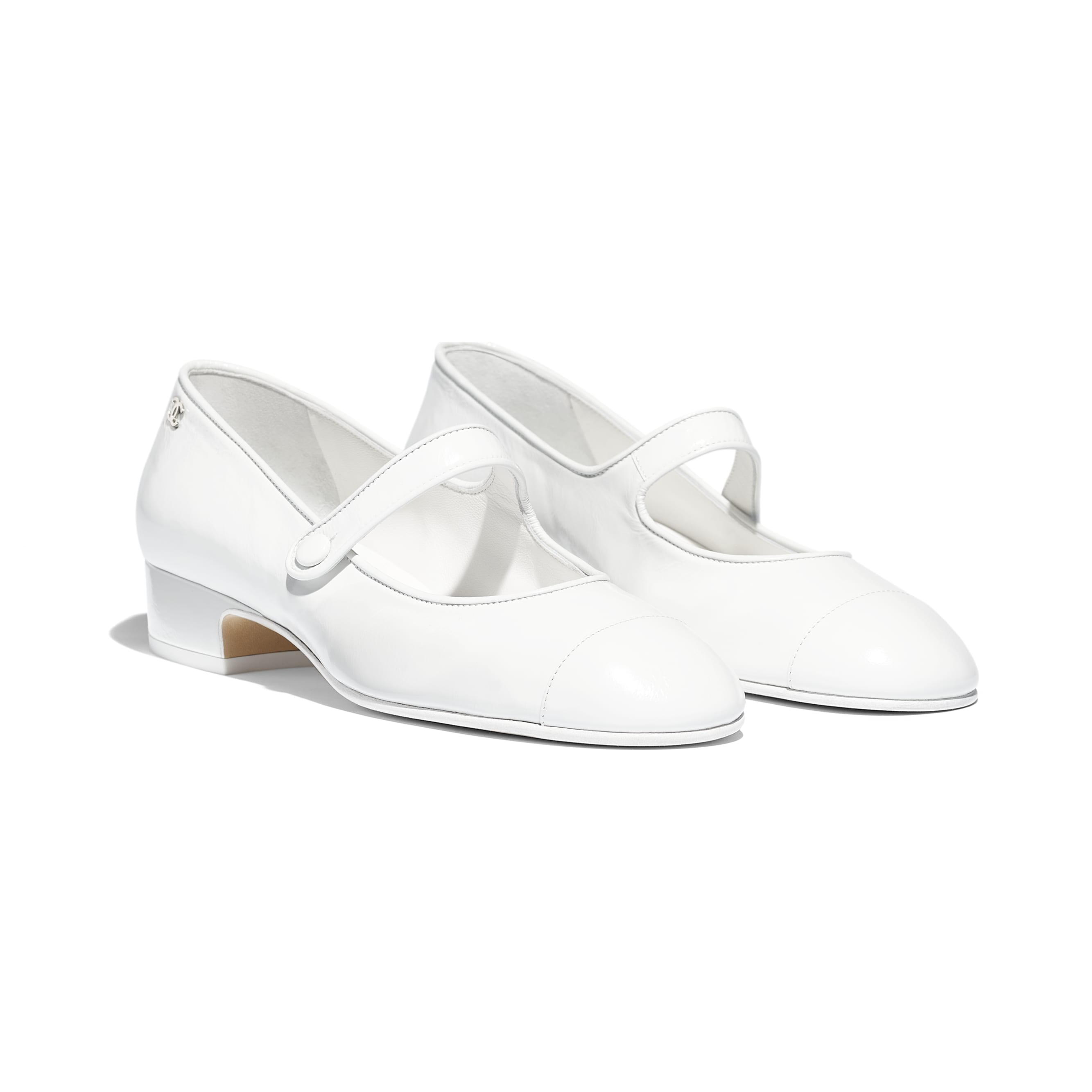 Mary Janes - White - Calfskin - Alternative view - see standard sized version