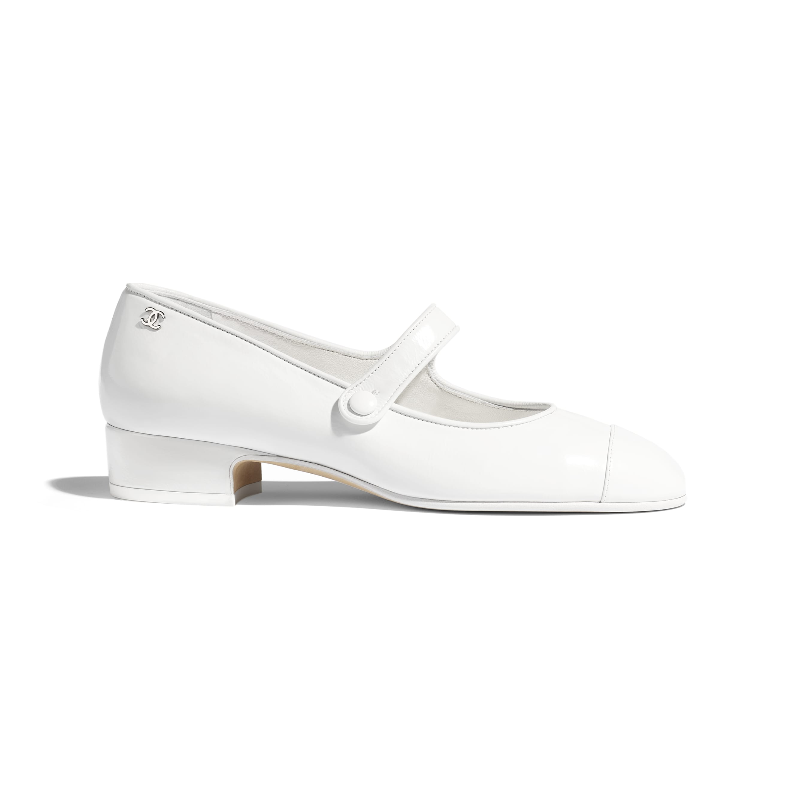 Mary Janes - White - Calfskin - Default view - see standard sized version
