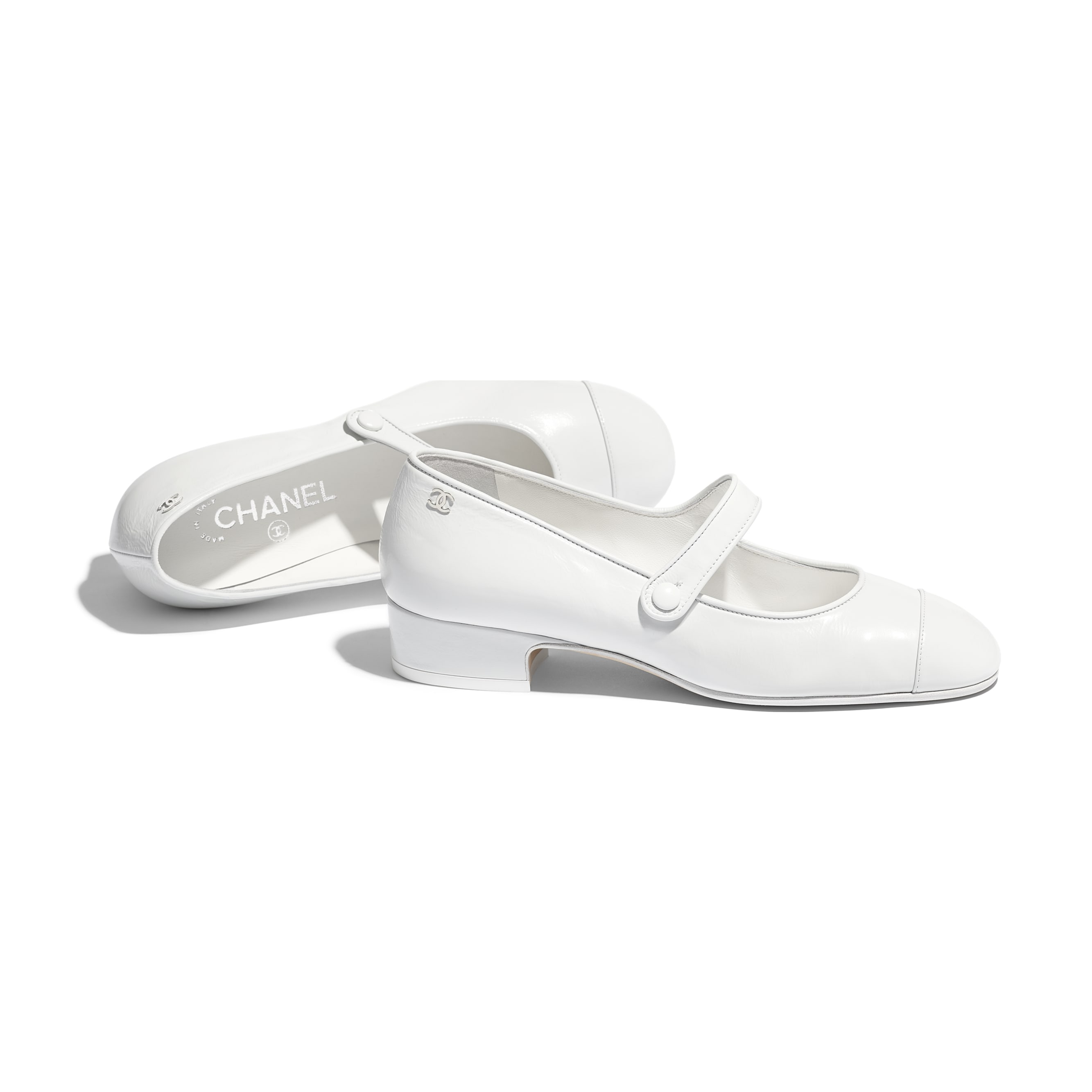 Mary Janes - White - Calfskin - Other view - see standard sized version