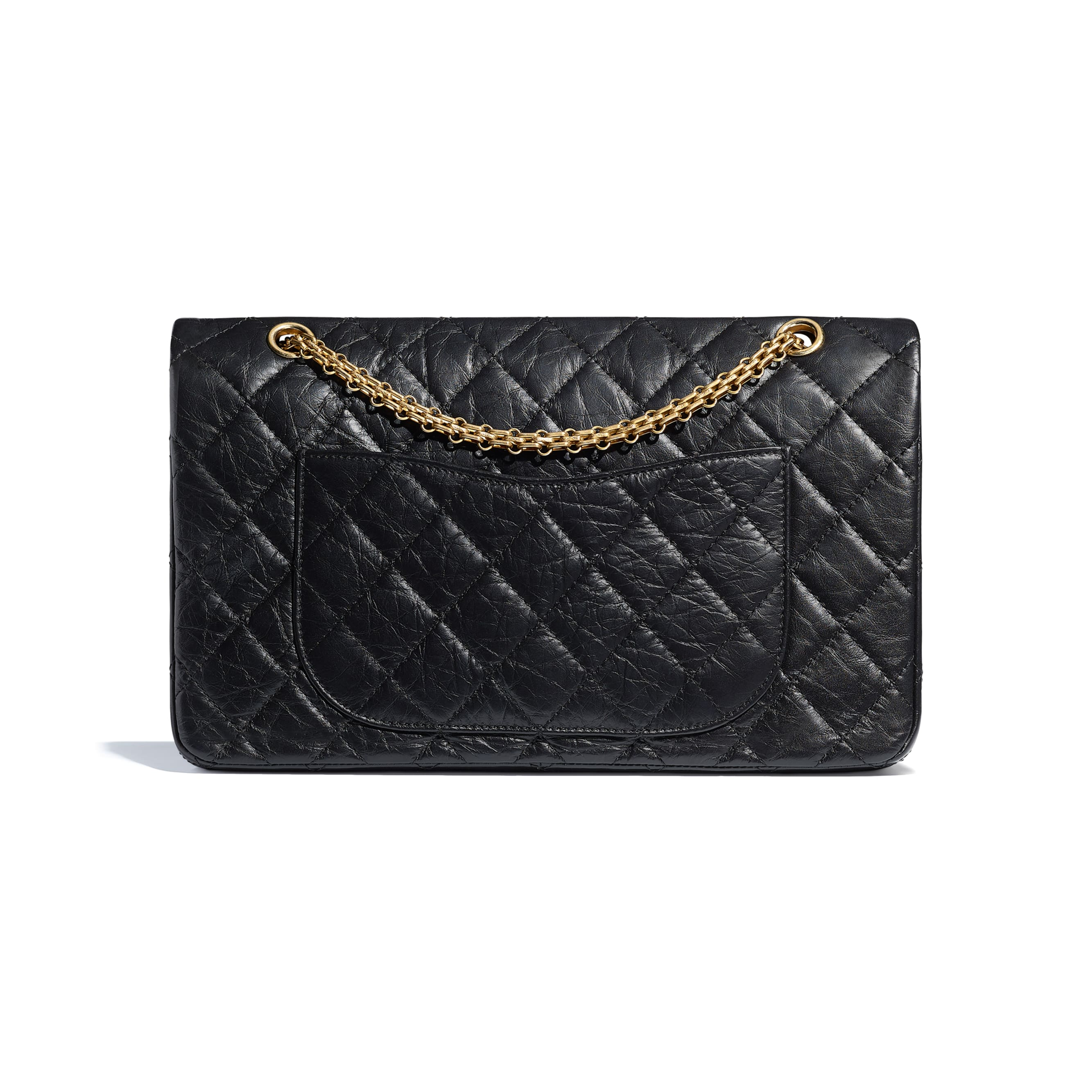Maxi 2.55 Handbag - Black - Aged Calfskin & Gold-Tone Metal - CHANEL - Alternative view - see standard sized version