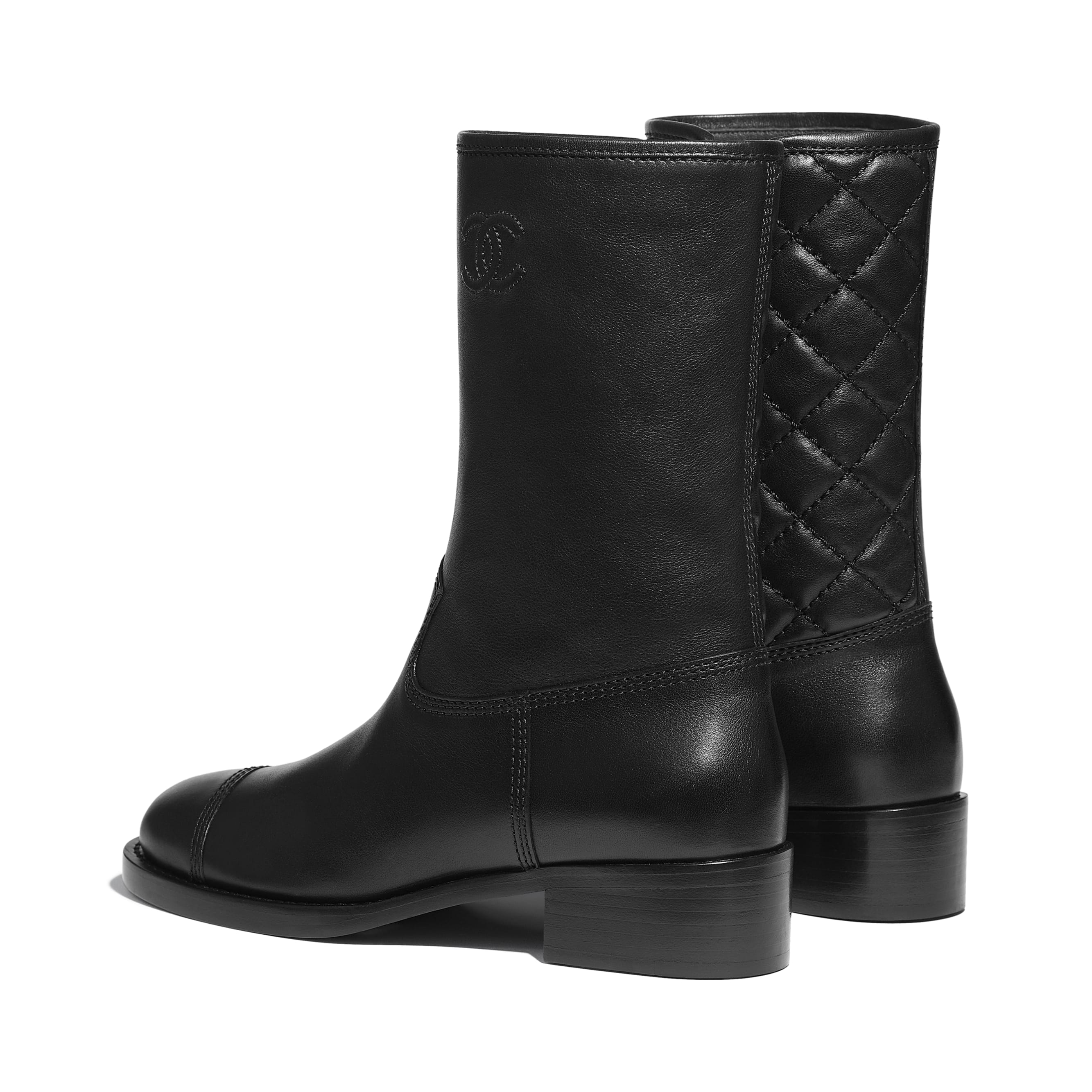 Mid-Calf Boots - Black - Calfskin - CHANEL - Other view - see standard sized version