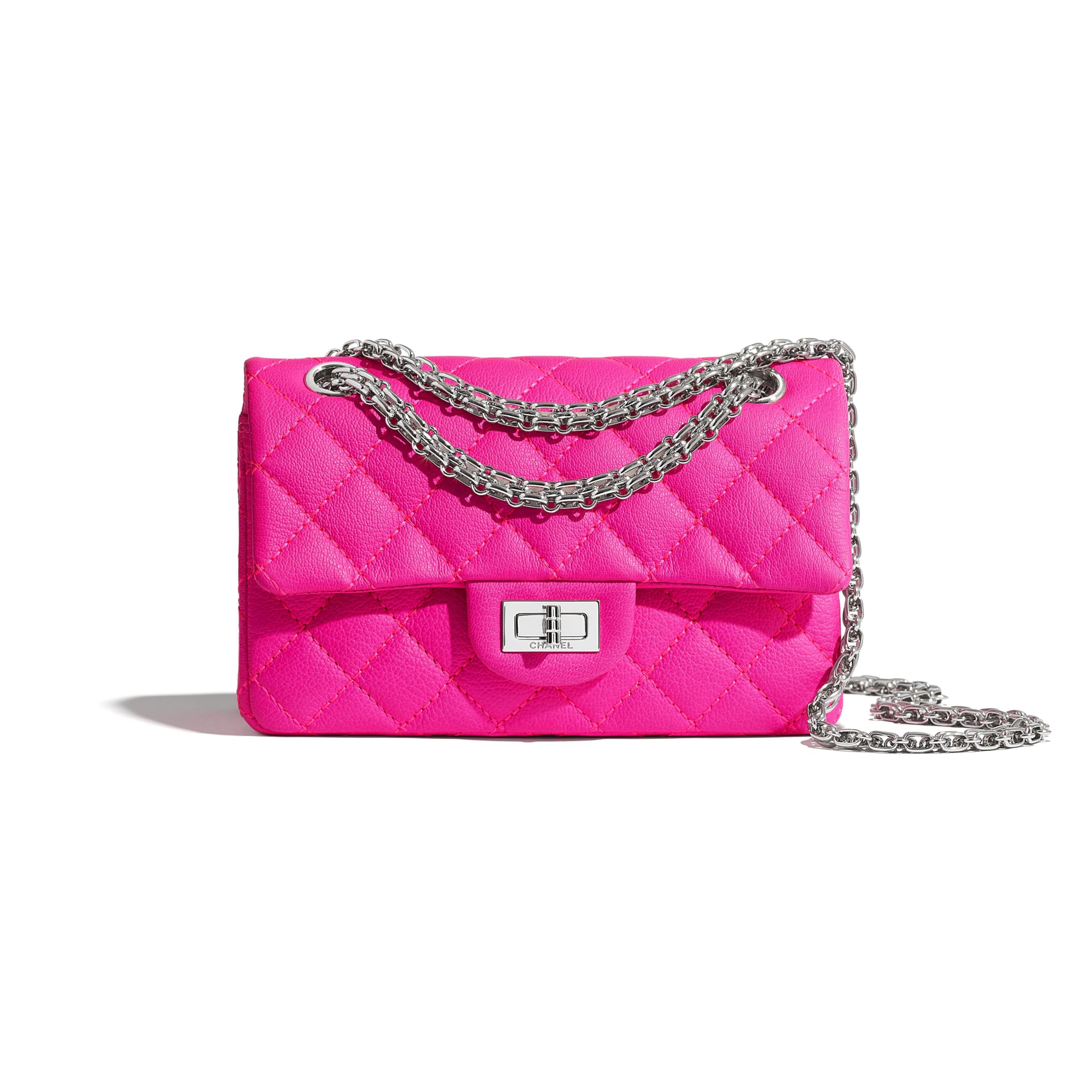Mini 2.55 Handbag - Pink - Goatskin & Silver-Tone Metal - CHANEL - Default view - see standard sized version