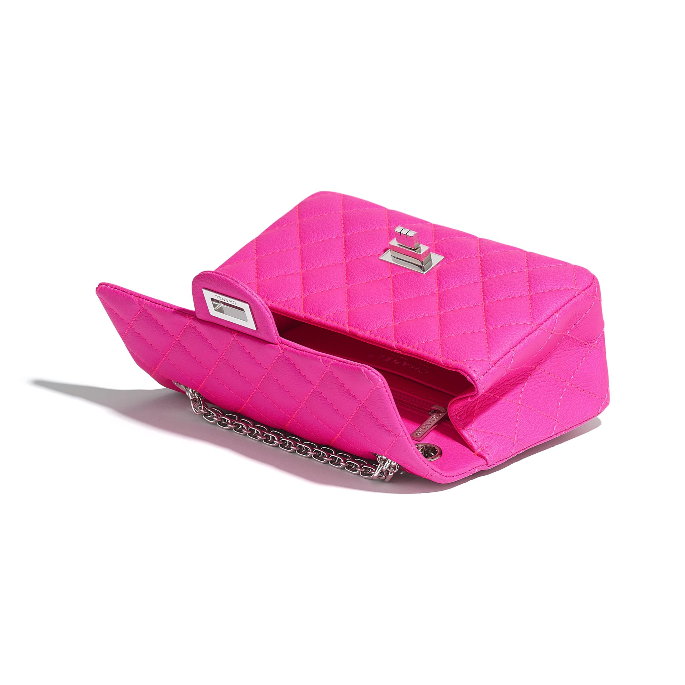 Mini sac 2.55 - Rose - Chèvre & métal argenté - CHANEL - Autre vue - voir la version taille standard