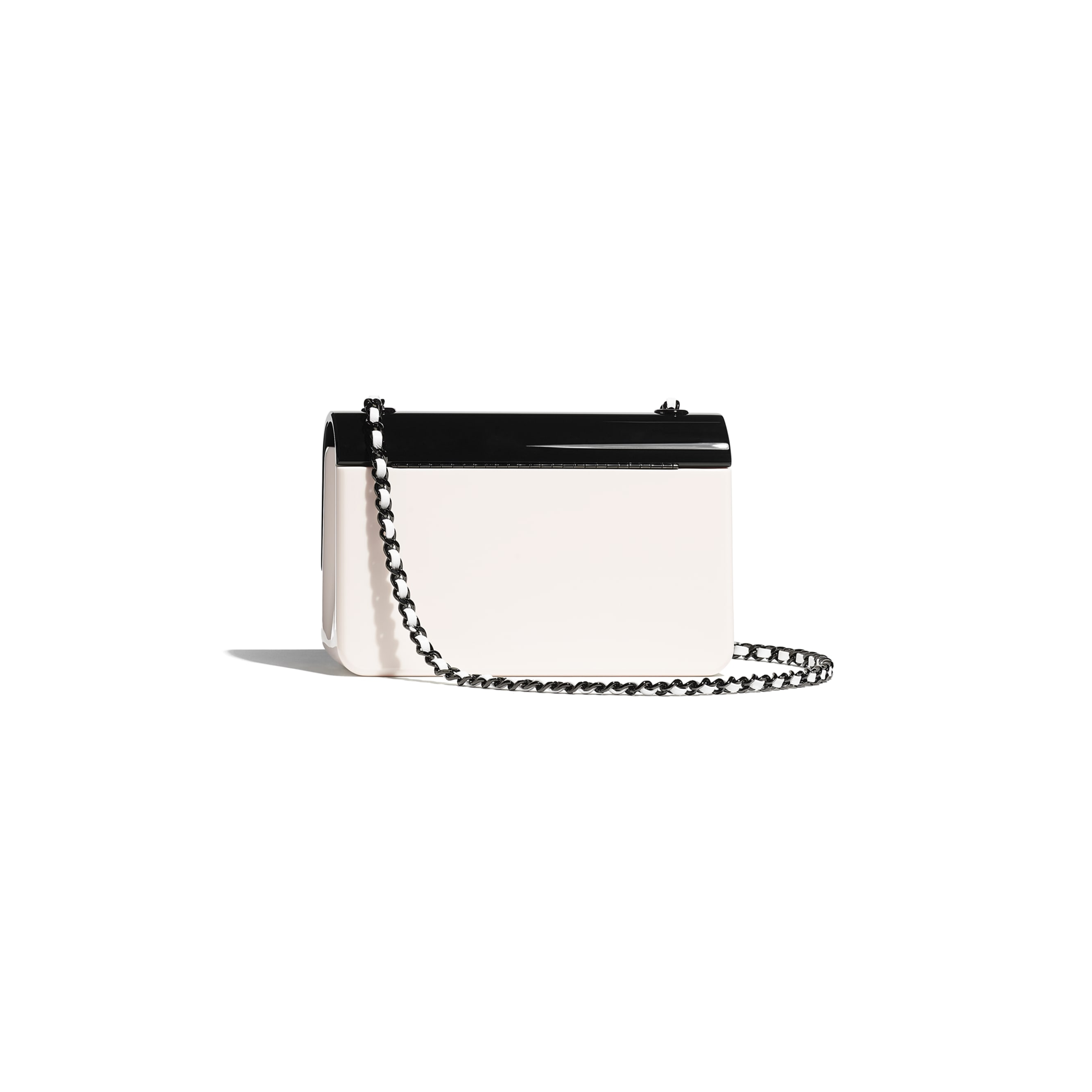 Mini Evening Bag - Black & White - Plexi & Black Metal - CHANEL - Alternative view - see standard sized version