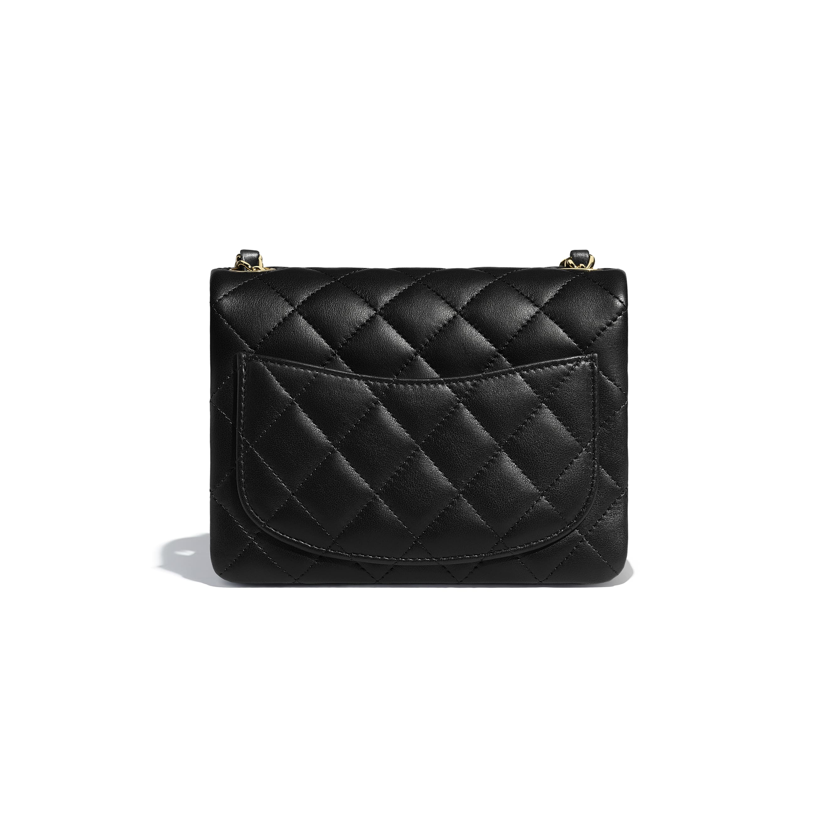 Mini Flap Bag - Black - Lambskin - Alternative view - see standard sized version