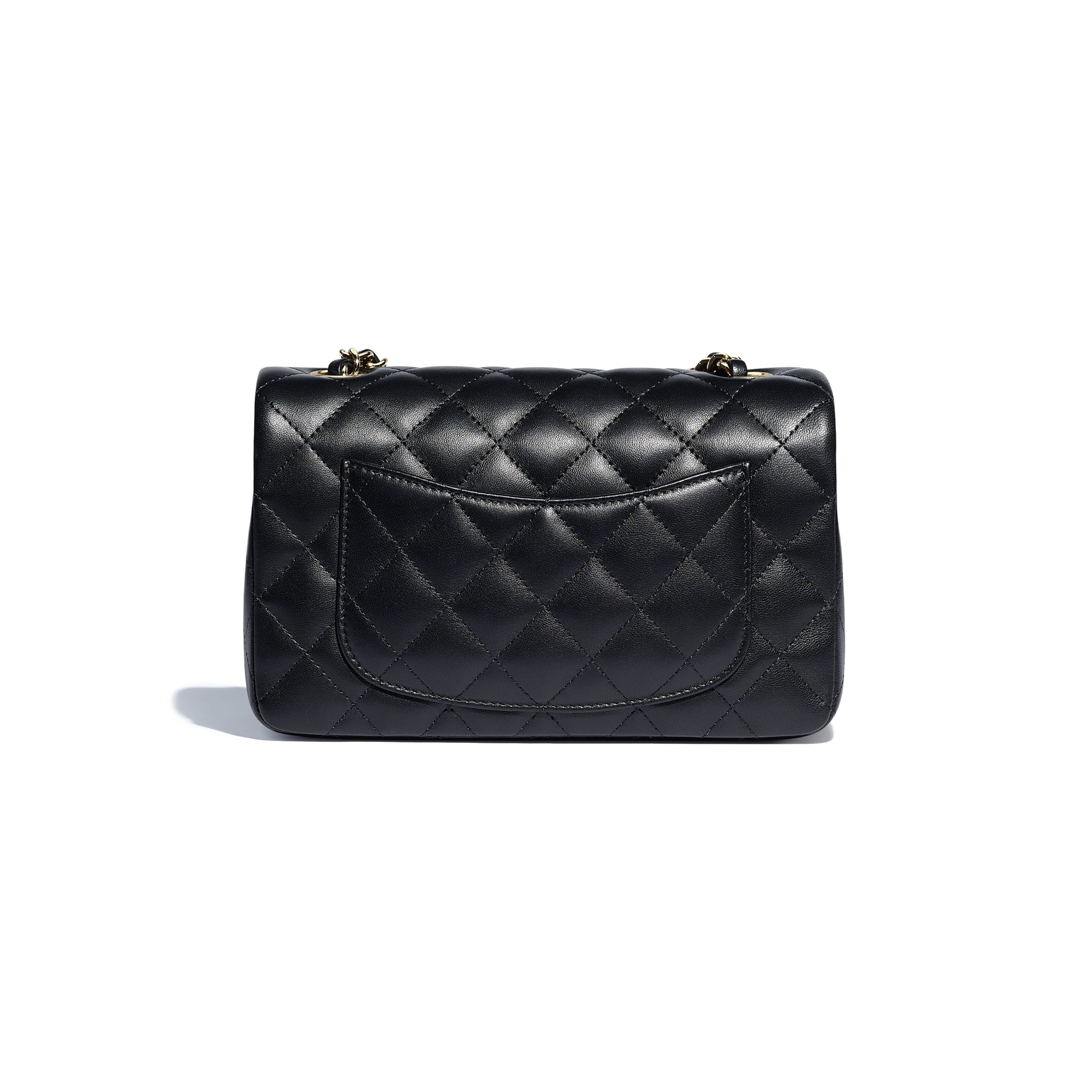 Mini Flap Bag - Black - Lambskin - CHANEL - Alternative view - see standard sized version