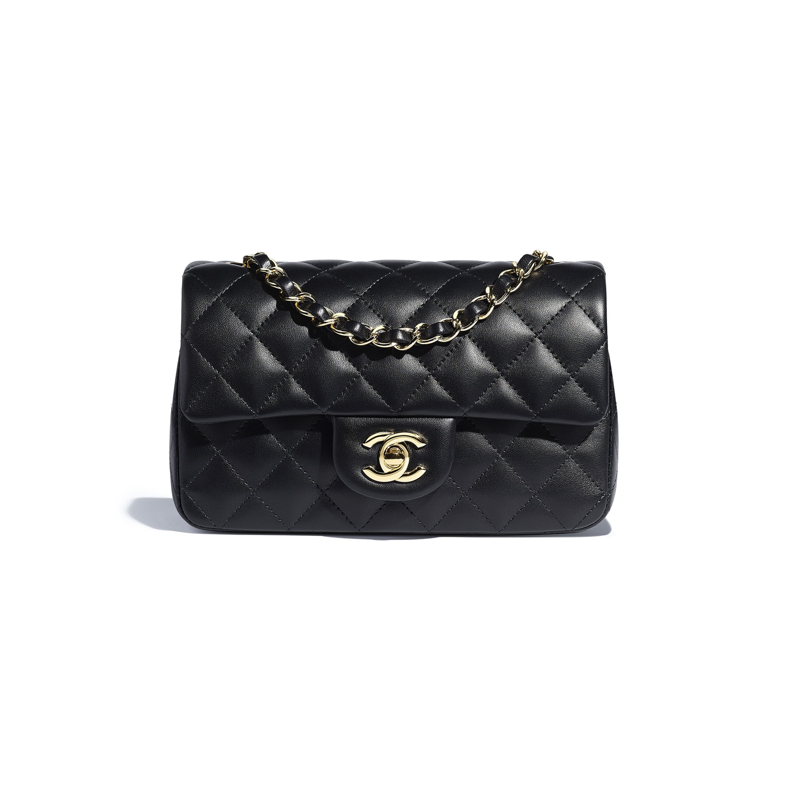 Mini Flap Bag - Black - Lambskin - CHANEL - Default view - see standard sized version