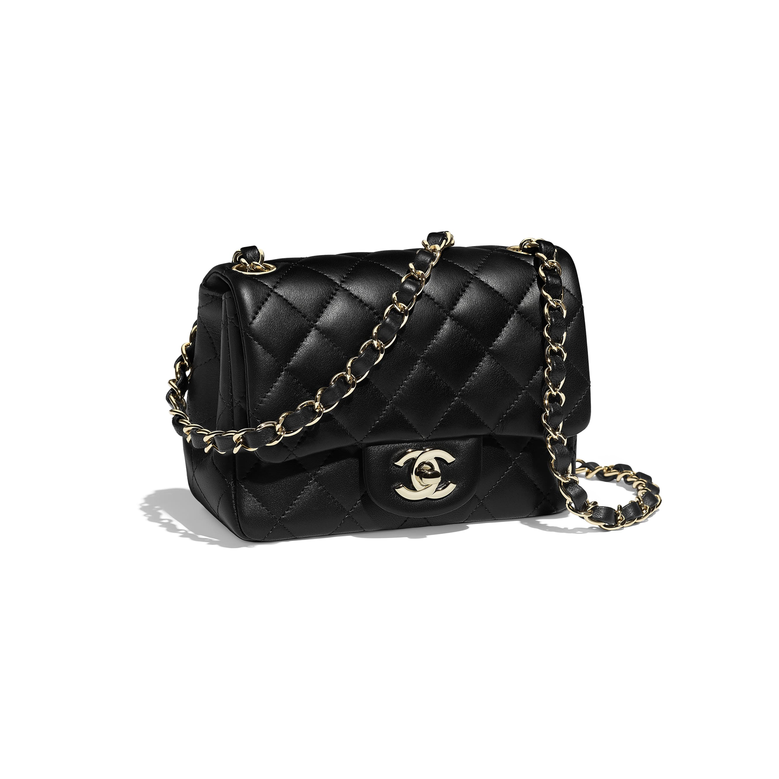 Mini Flap Bag - Black - Lambskin - Other view - see standard sized version