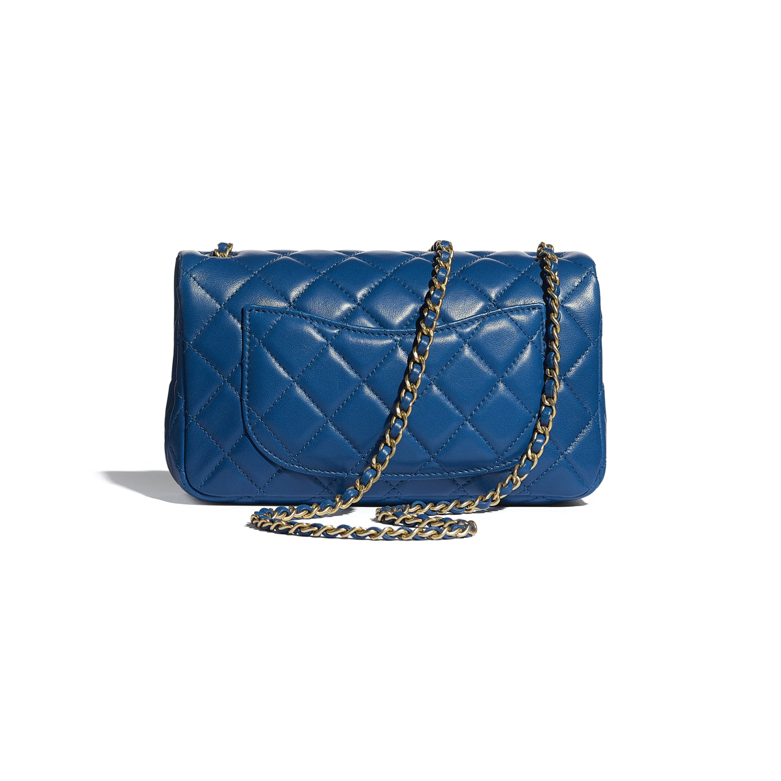 Mini Flap Bag - Blue - Lambskin - CHANEL - Alternative view - see standard sized version