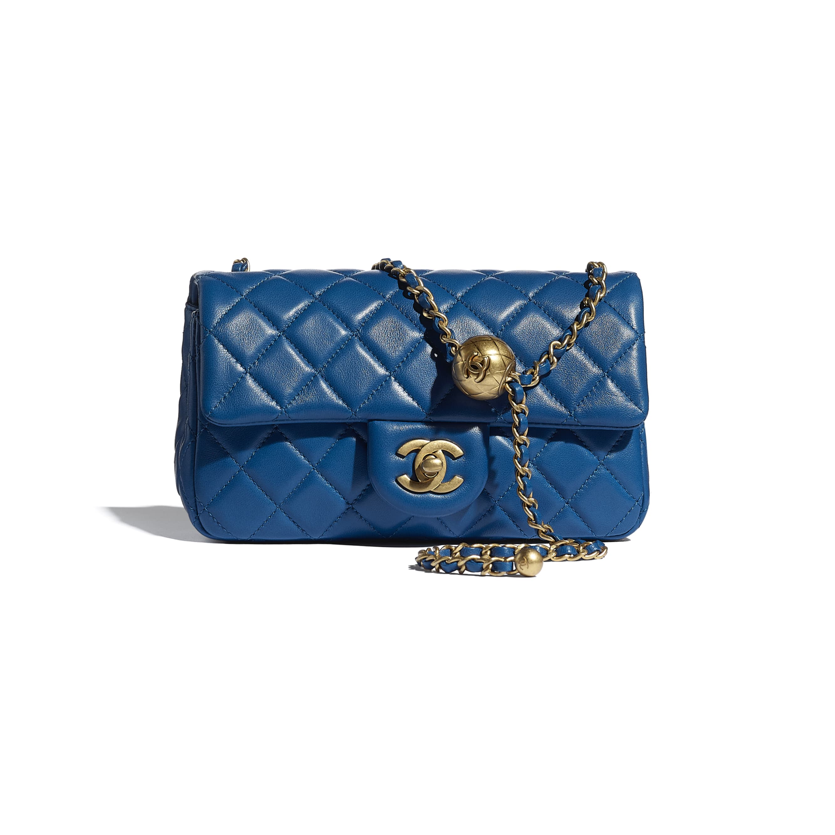 Mini Flap Bag - Blue - Lambskin - CHANEL - Default view - see standard sized version