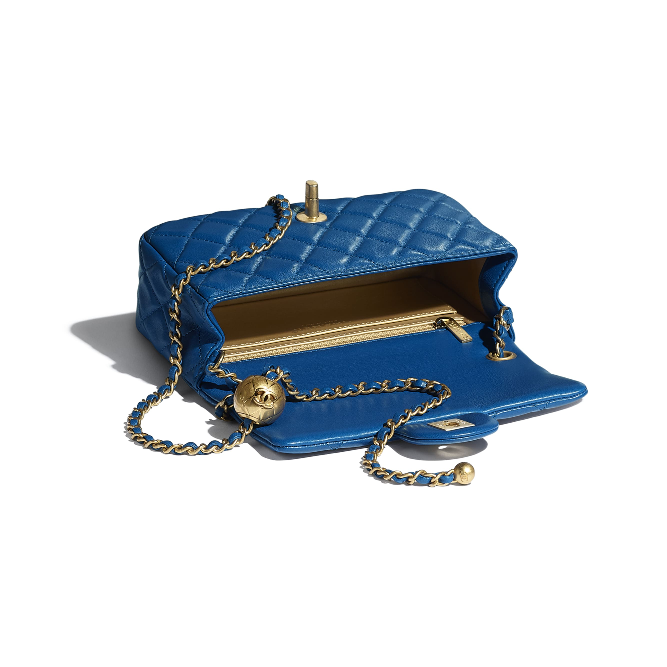 Mini Flap Bag - Blue - Lambskin - CHANEL - Other view - see standard sized version