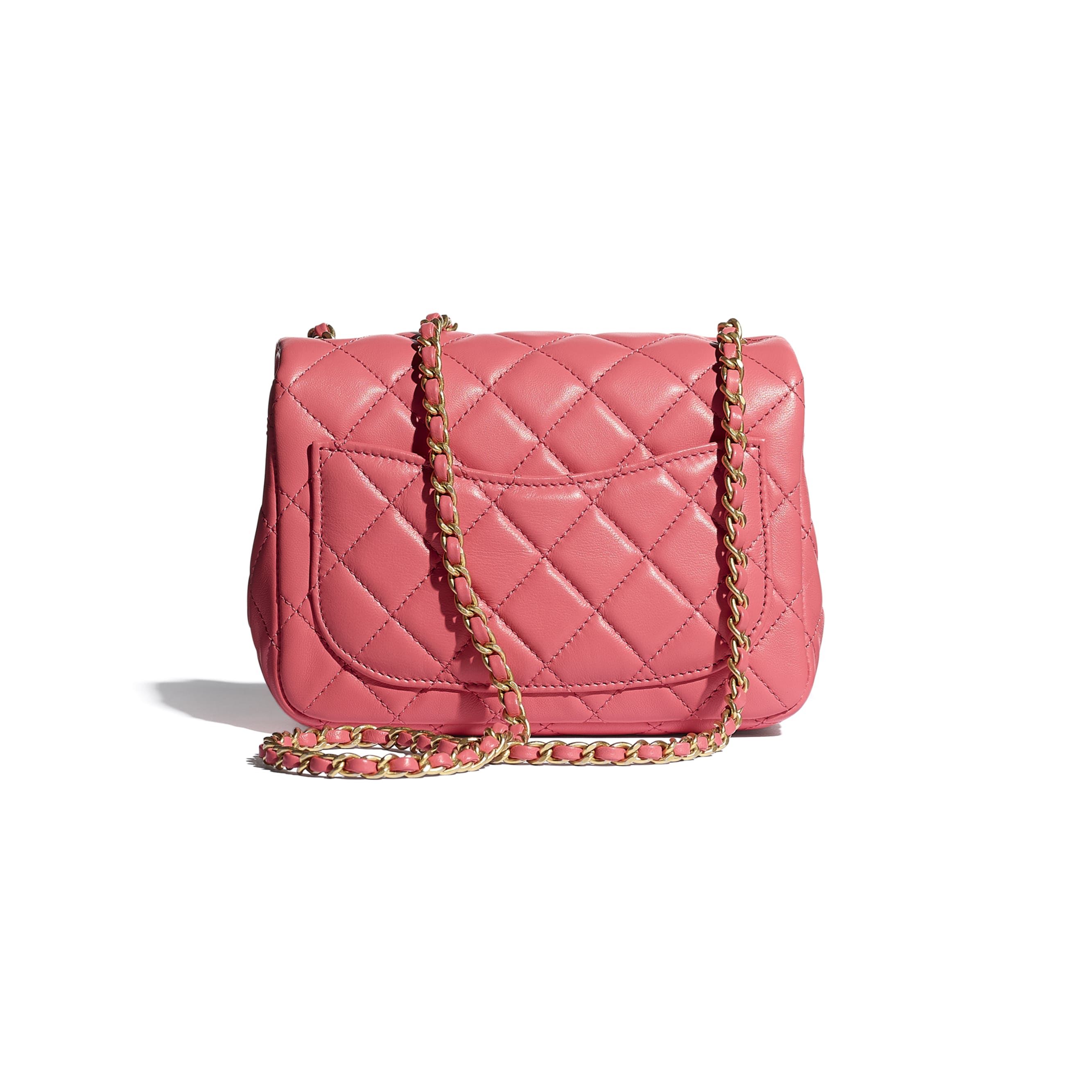 Mini Flap Bag - Coral - Lambskin - CHANEL - Alternative view - see standard sized version