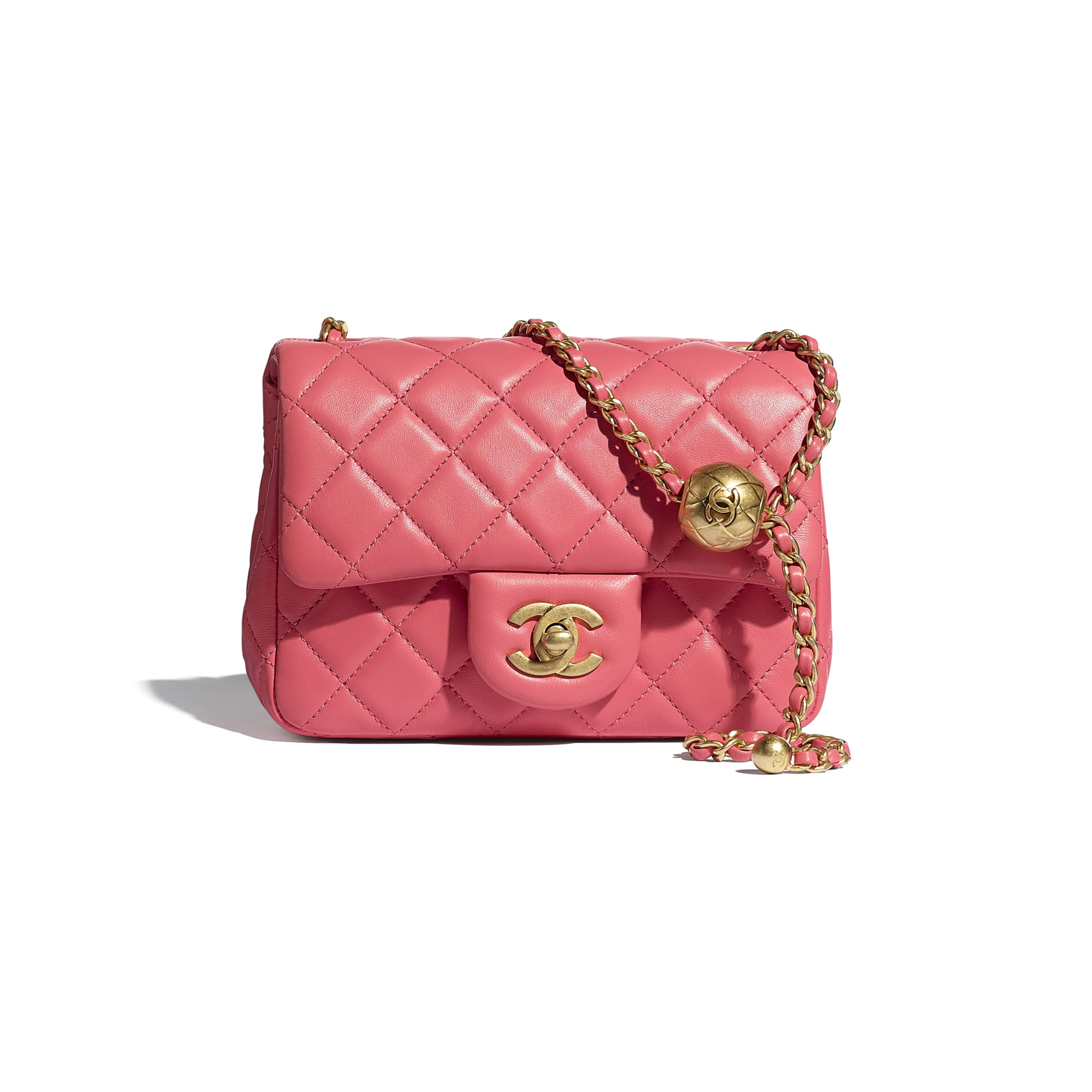 Mini Flap Bag - Coral - Lambskin - CHANEL - Default view - see standard sized version
