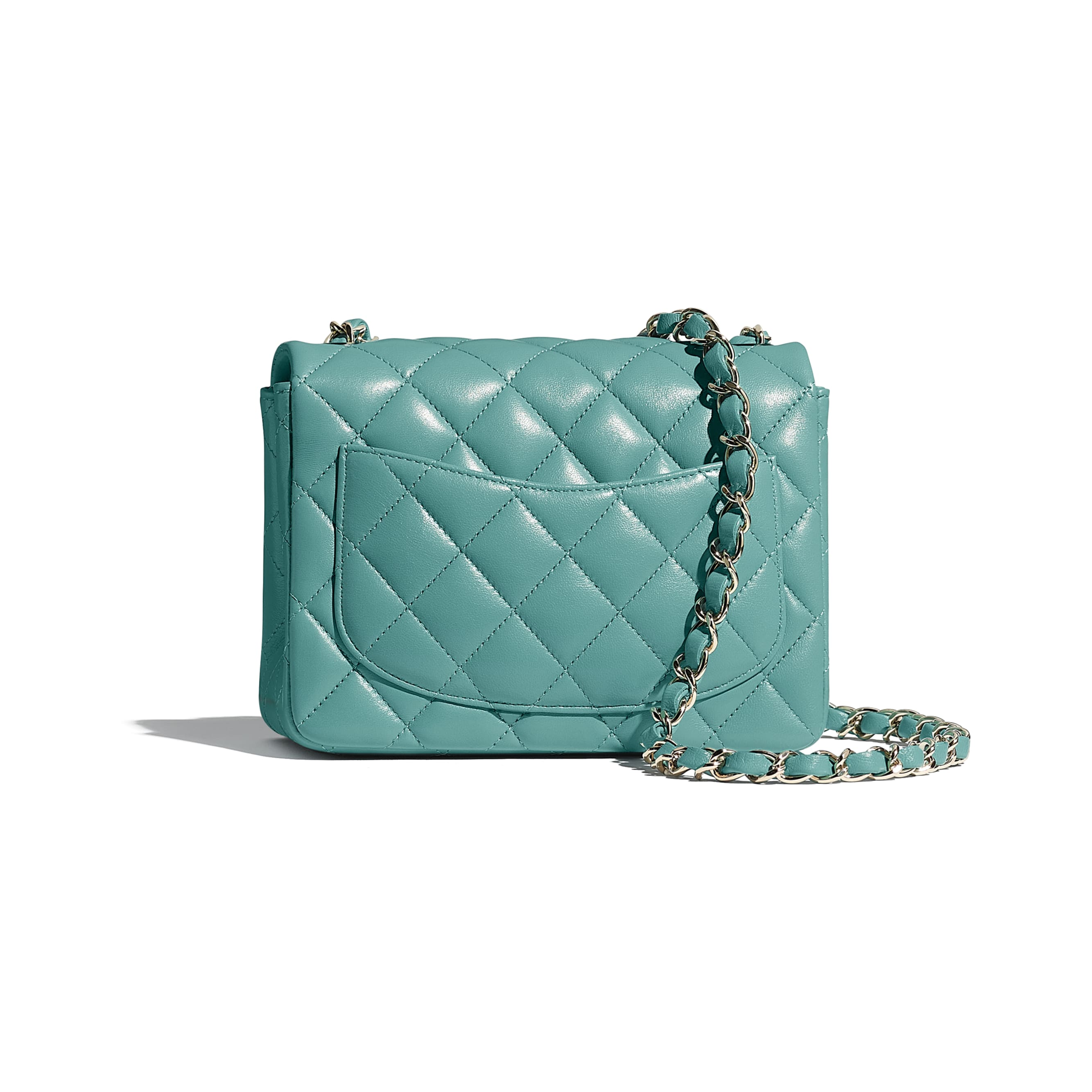 Mini Flap Bag - Green - Lambskin - CHANEL - Alternative view - see standard sized version
