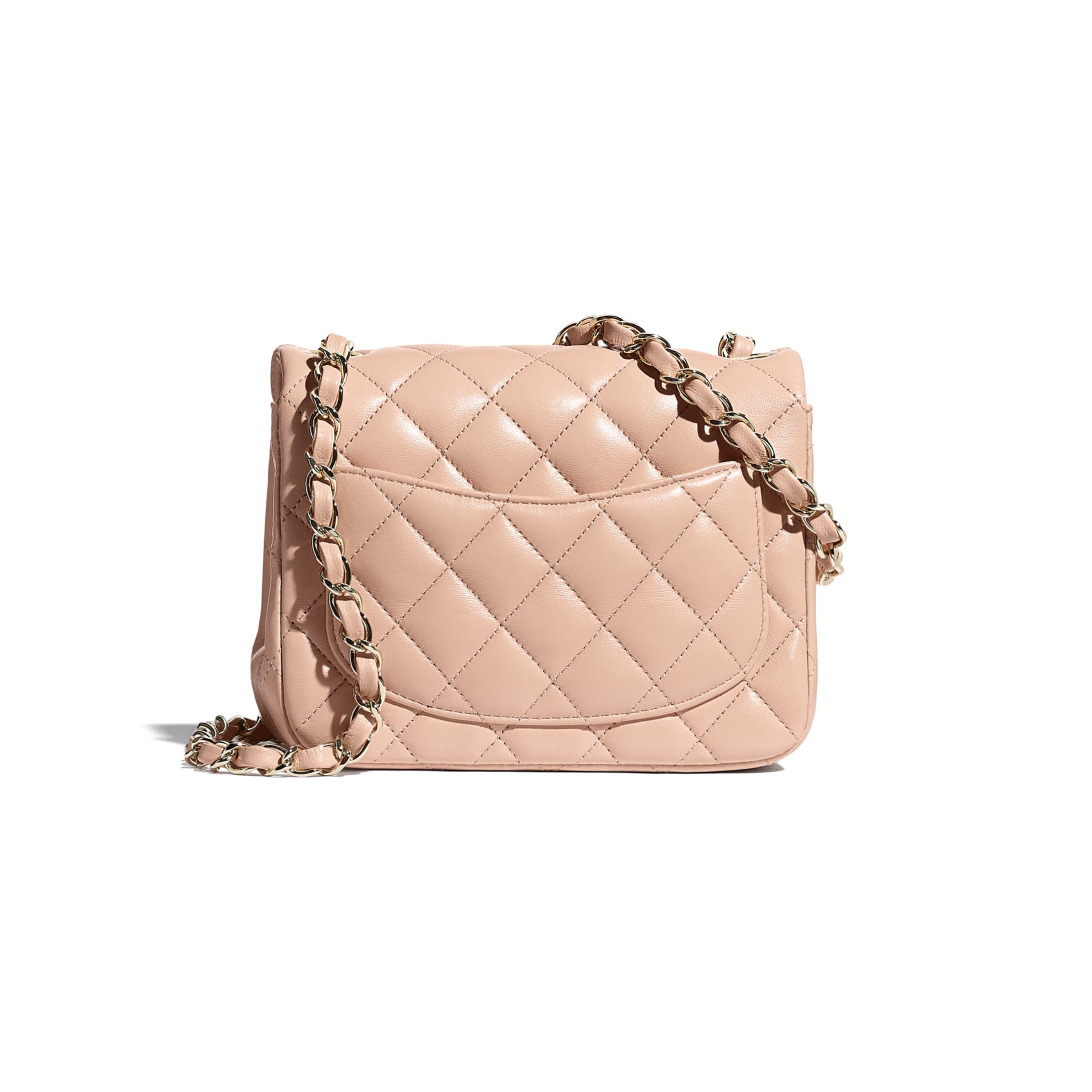 Mini Flap Bag - Light Pink - Lambskin - CHANEL - Alternative view - see standard sized version