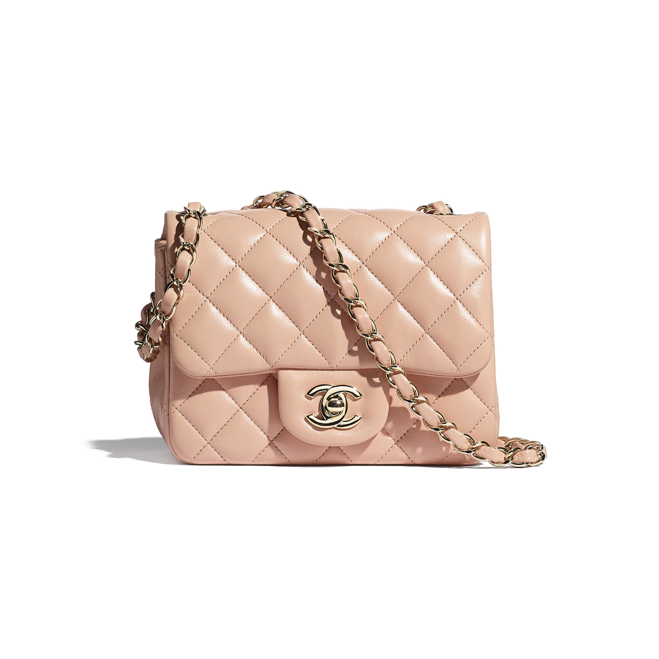 Mini Flap Bag - Light Pink - Lambskin - CHANEL - Default view - see standard sized version