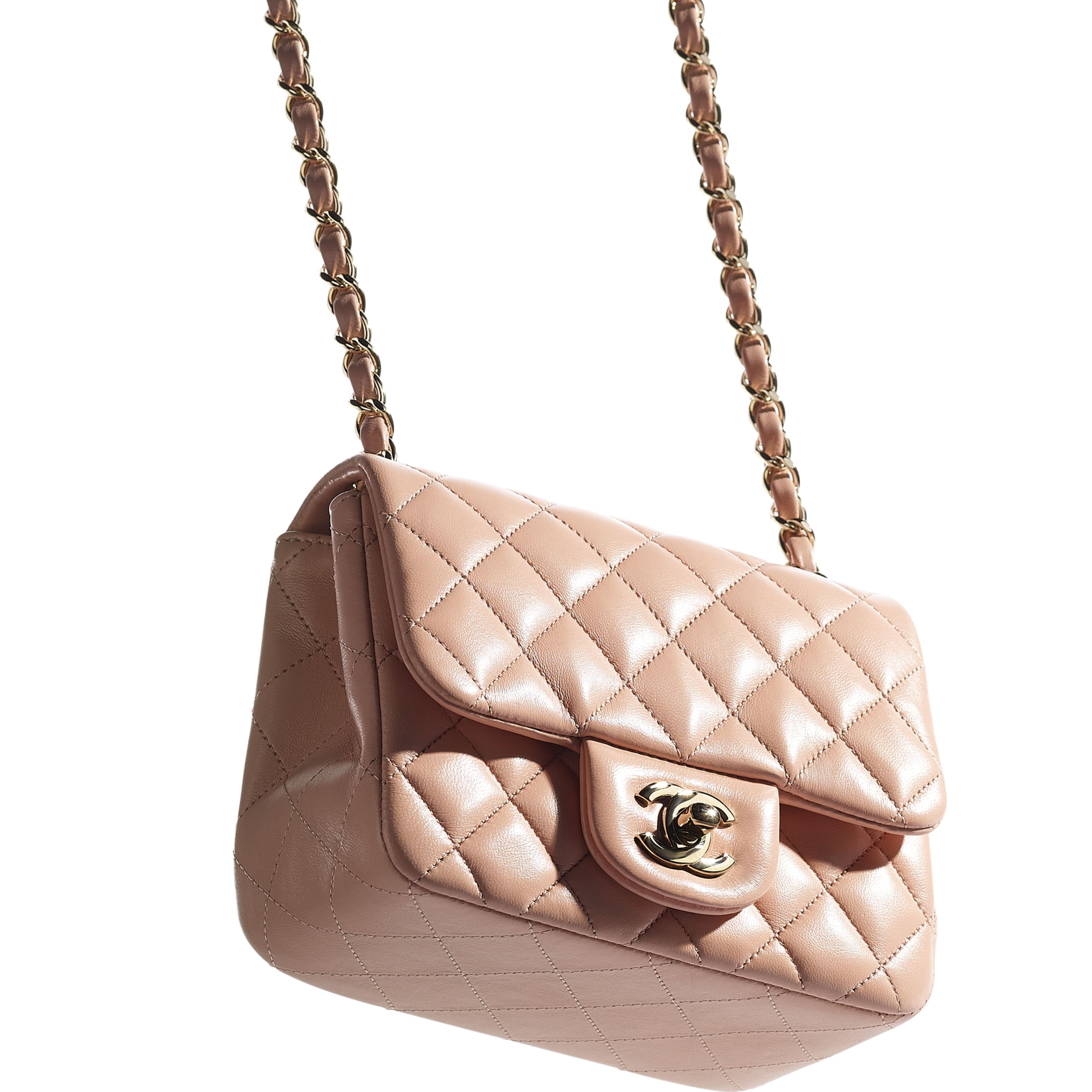 Mini Flap Bag - Light Pink - Lambskin - CHANEL - Extra view - see standard sized version
