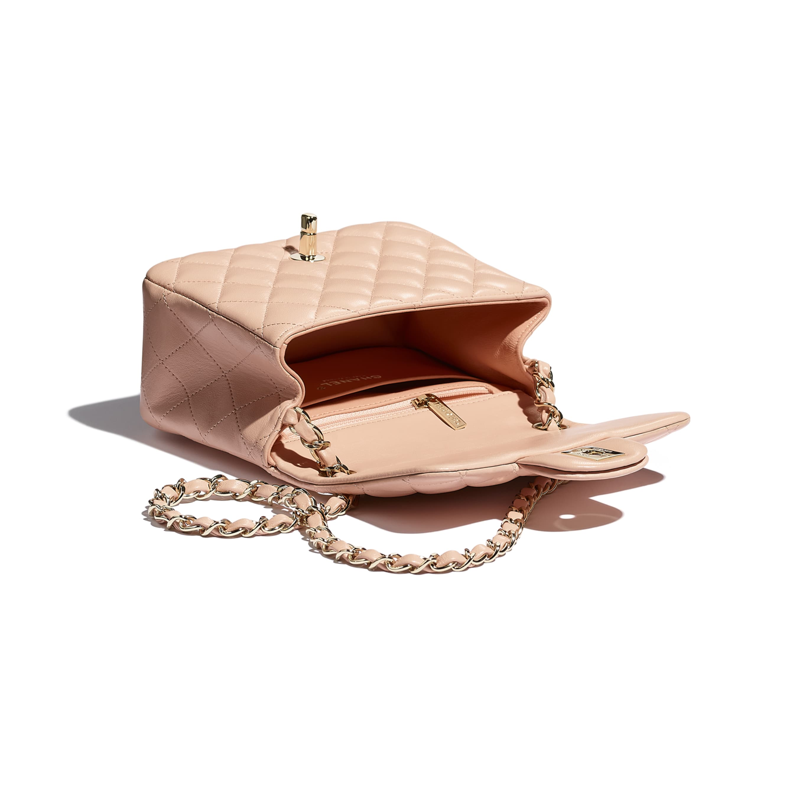 Mini Flap Bag - Light Pink - Lambskin - CHANEL - Other view - see standard sized version