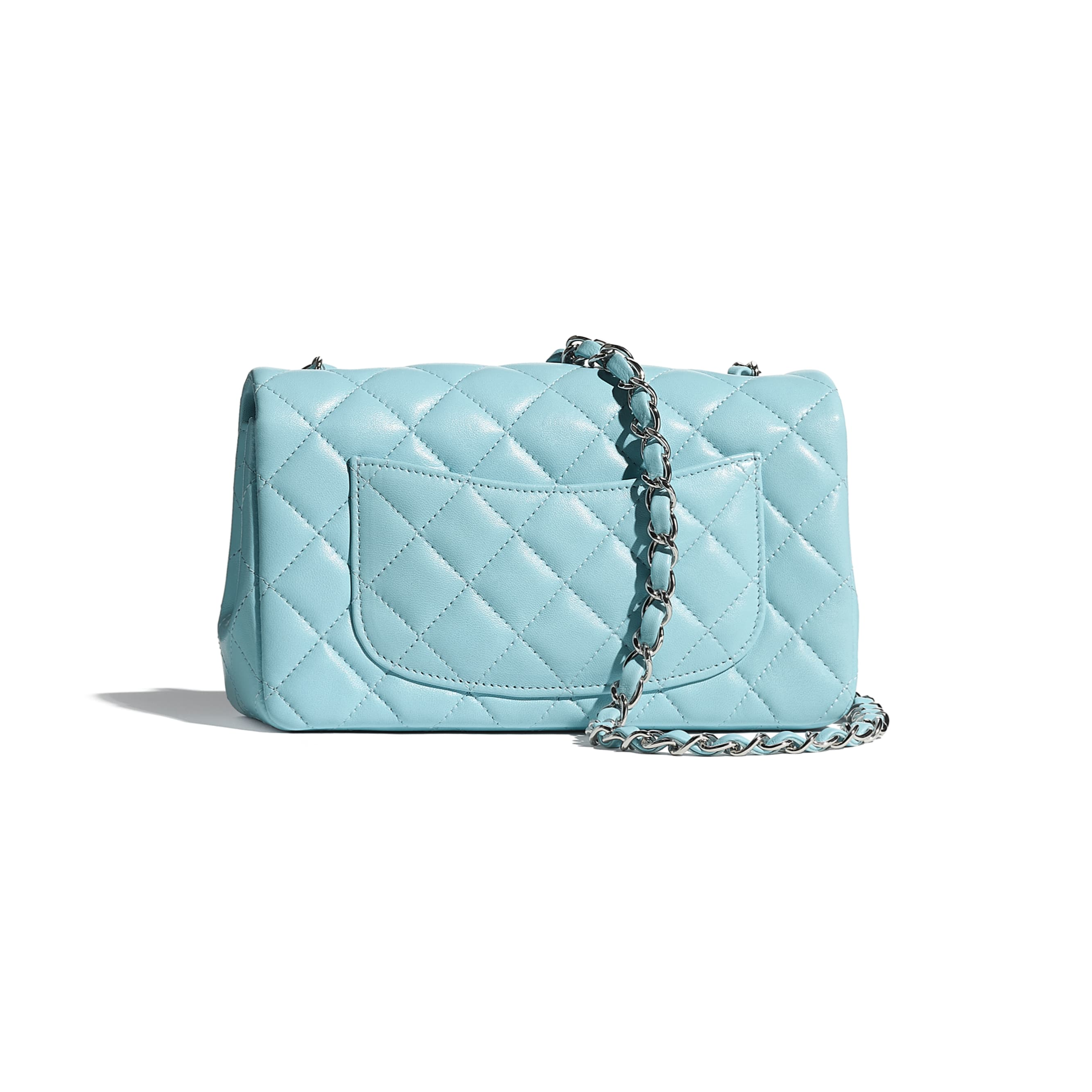 Mini Flap Bag - Neon Blue - Lambskin - CHANEL - Alternative view - see standard sized version