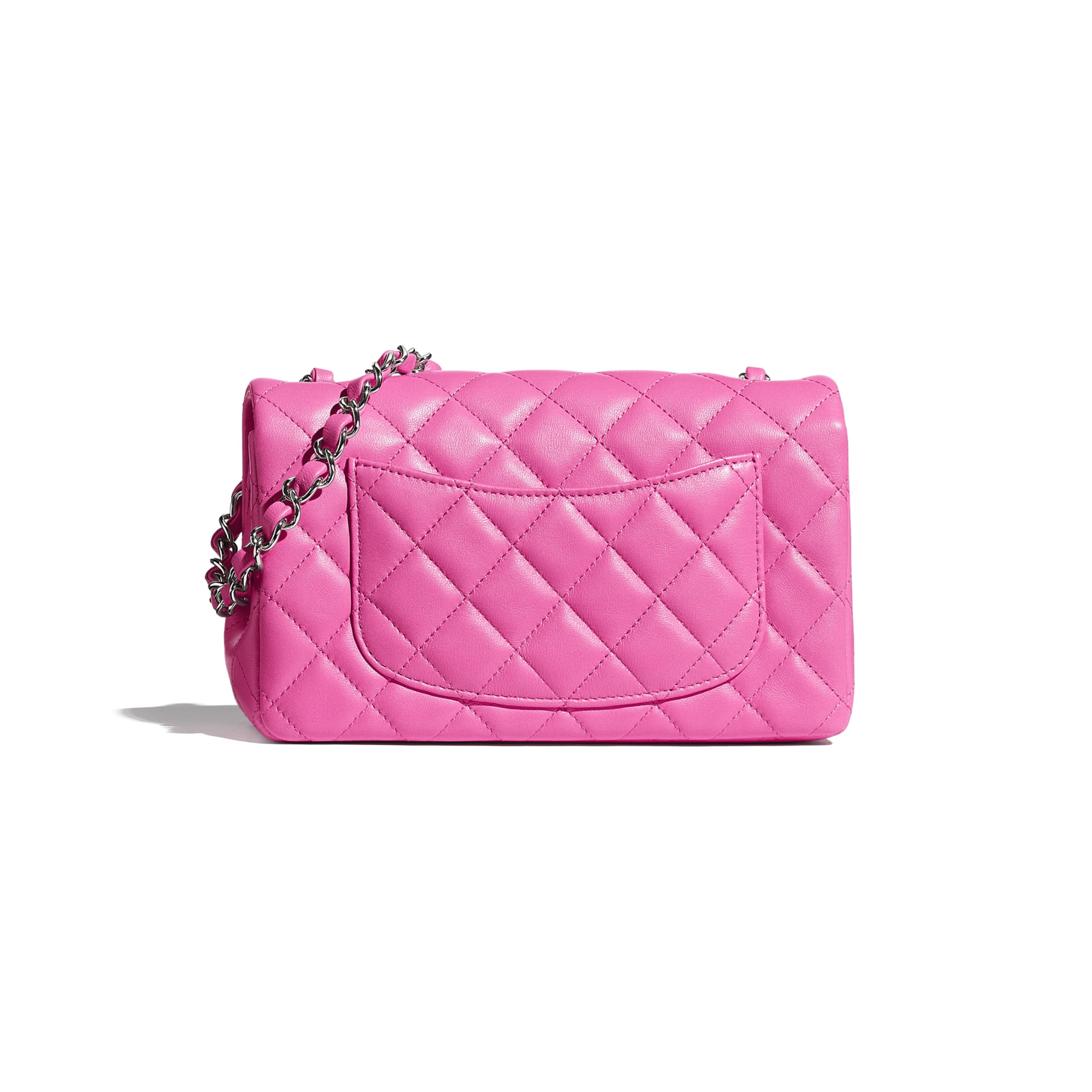 Mini Flap Bag - Neon Pink - Lambskin - CHANEL - Alternative view - see standard sized version