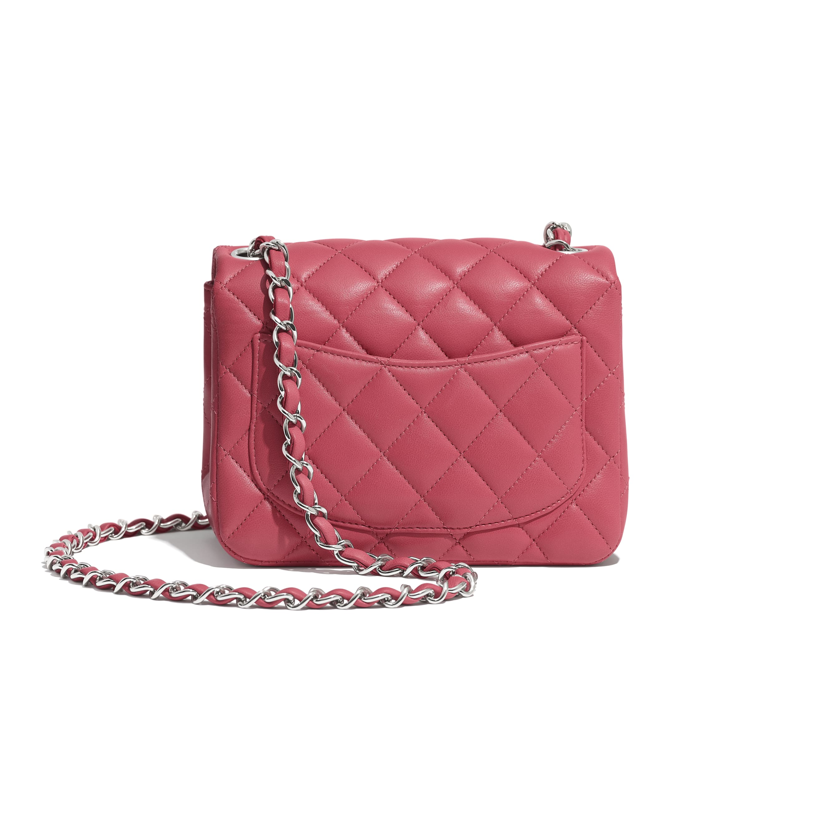 Mini Flap Bag - Pink - Lambskin - Alternative view - see standard sized version