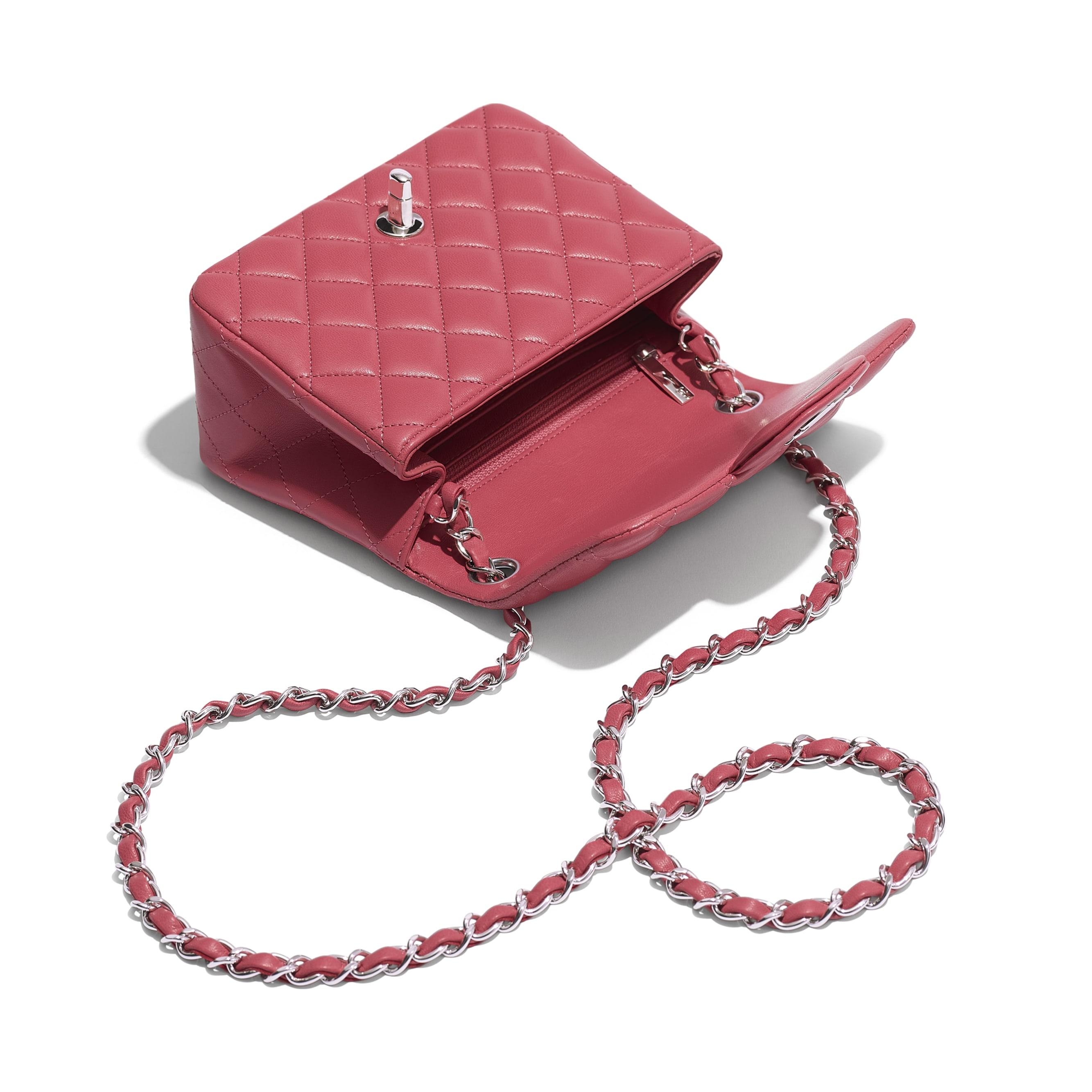Mini Flap Bag - Pink - Lambskin - Other view - see standard sized version