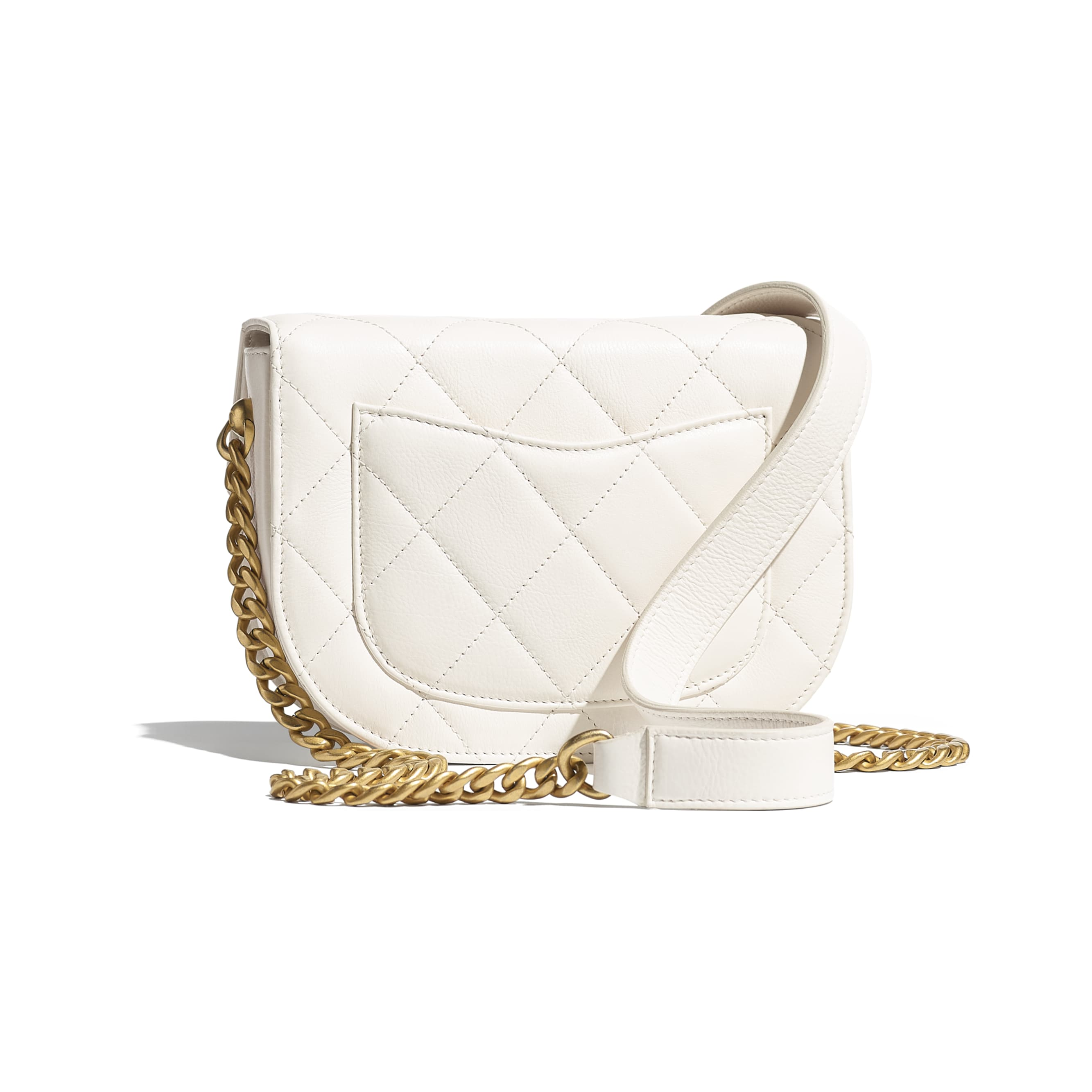 Mini Messenger Bag - White - Calfskin & Gold-Tone Metal - CHANEL - Alternative view - see standard sized version