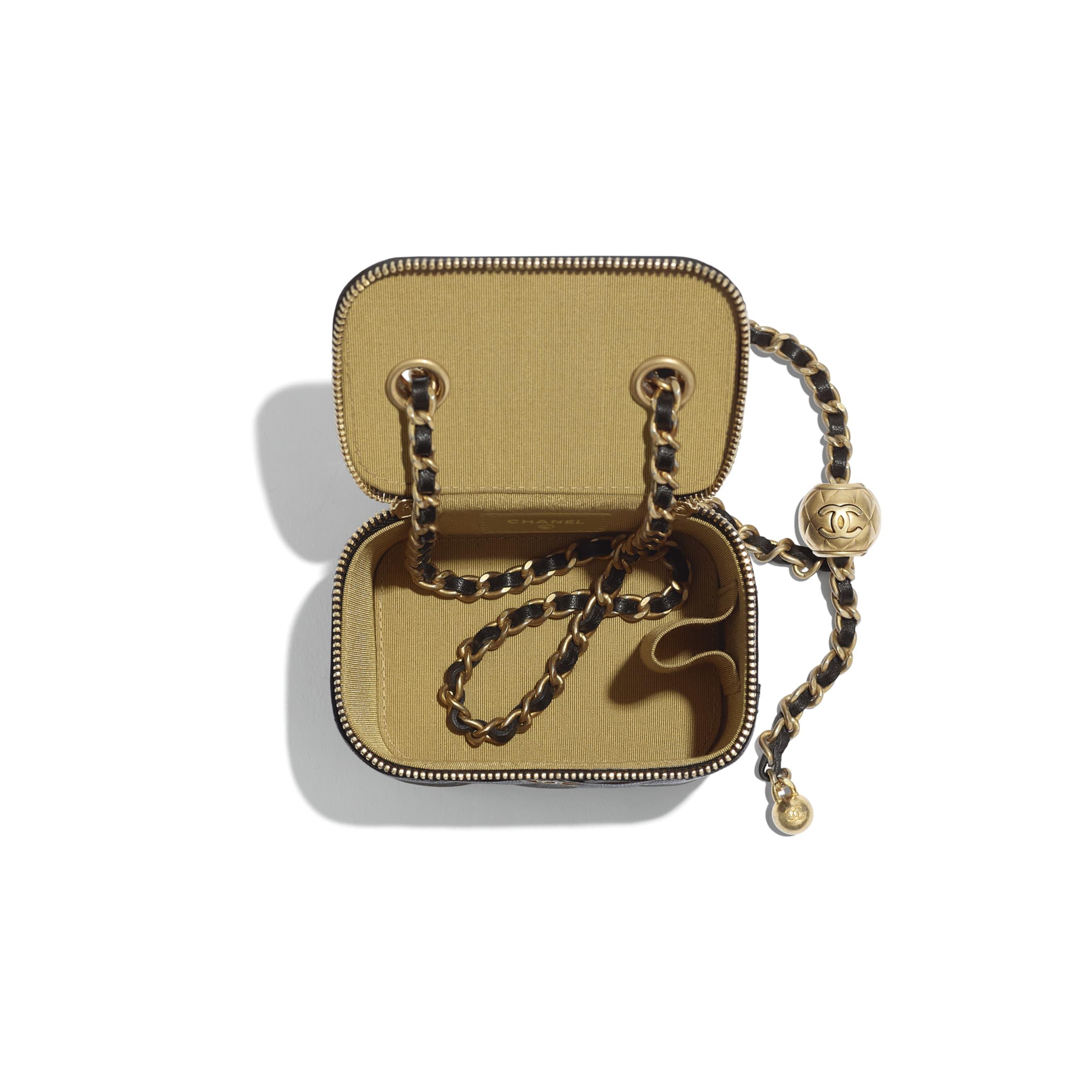 Small Classic Box with Chain - 黑 - 小羊皮與金色金屬 - 其他視圖 - 查看標準尺寸版本