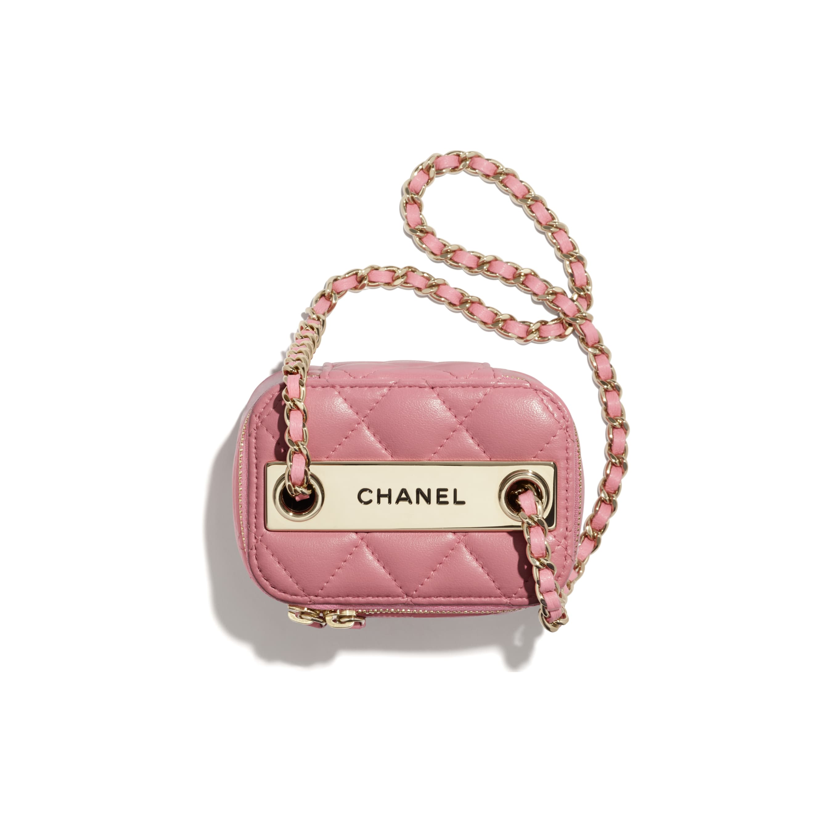 Mini Vanity with Chain - Pale Pink - Lambskin - CHANEL - Alternative view - see standard sized version