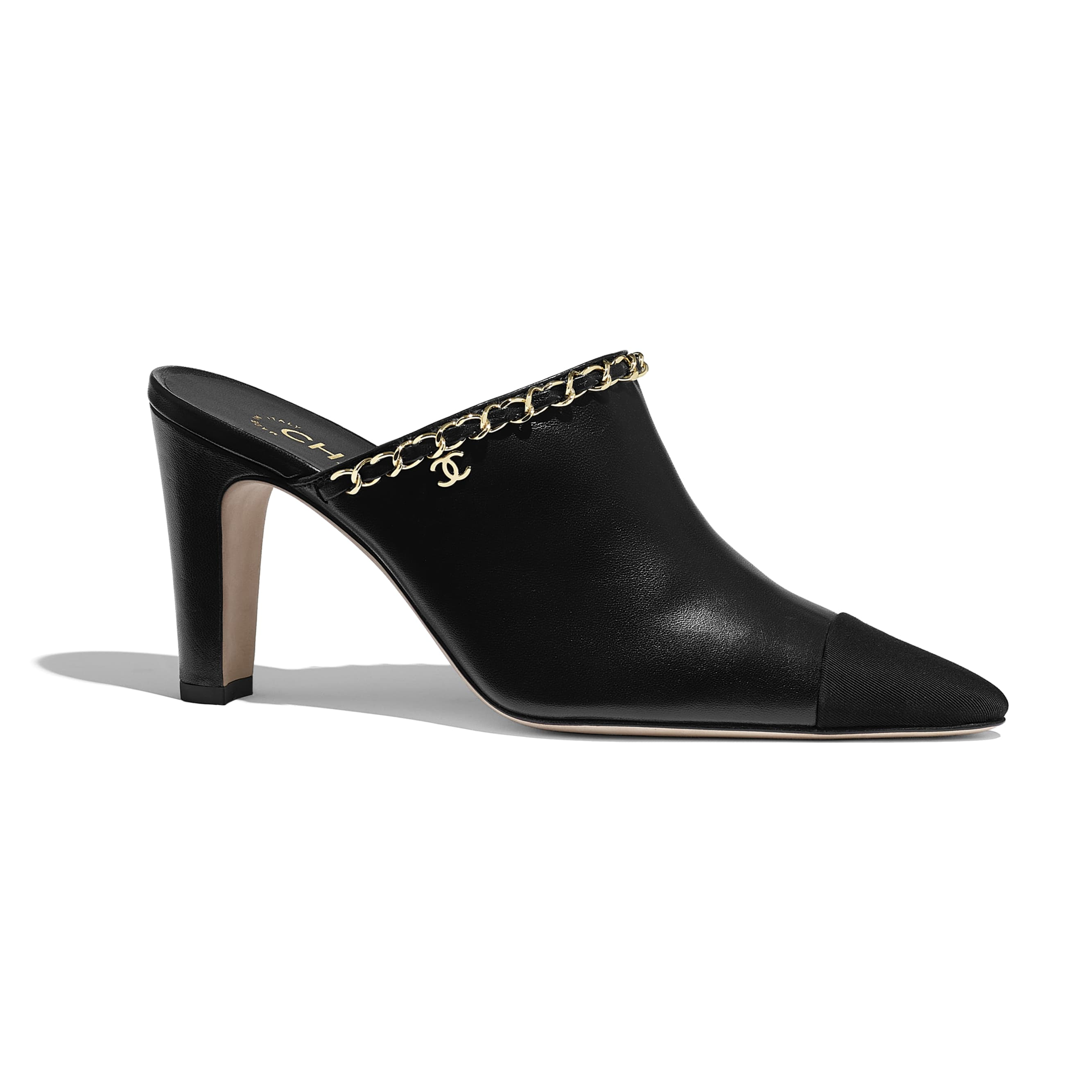 Mules - Black - Lambskin - CHANEL - Default view - see standard sized version