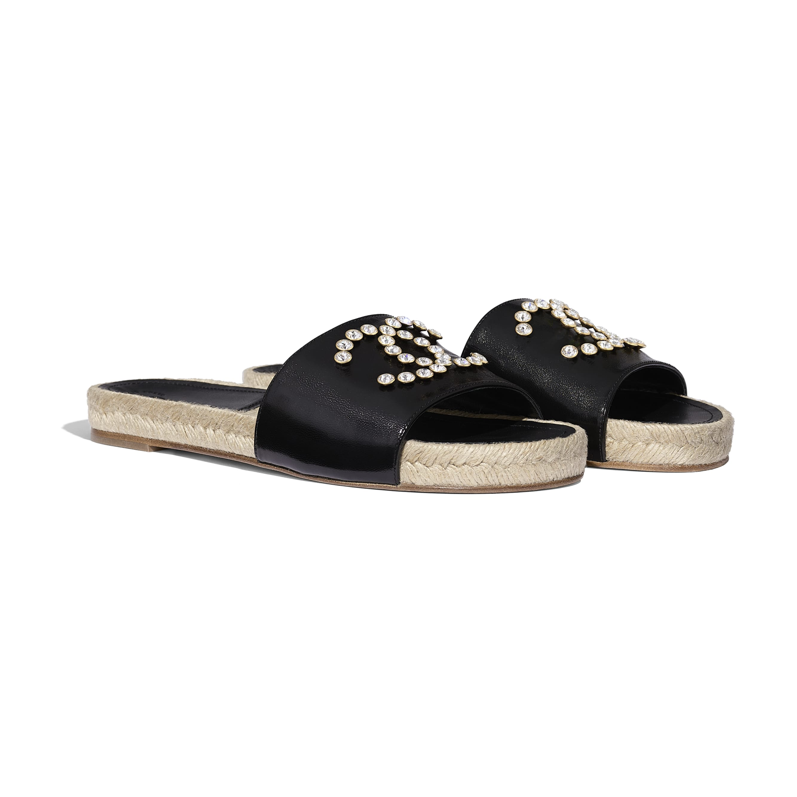蜜兒拖鞋 - 黑 - 小牛漆皮 - 替代視圖 - 查看標準尺寸版本