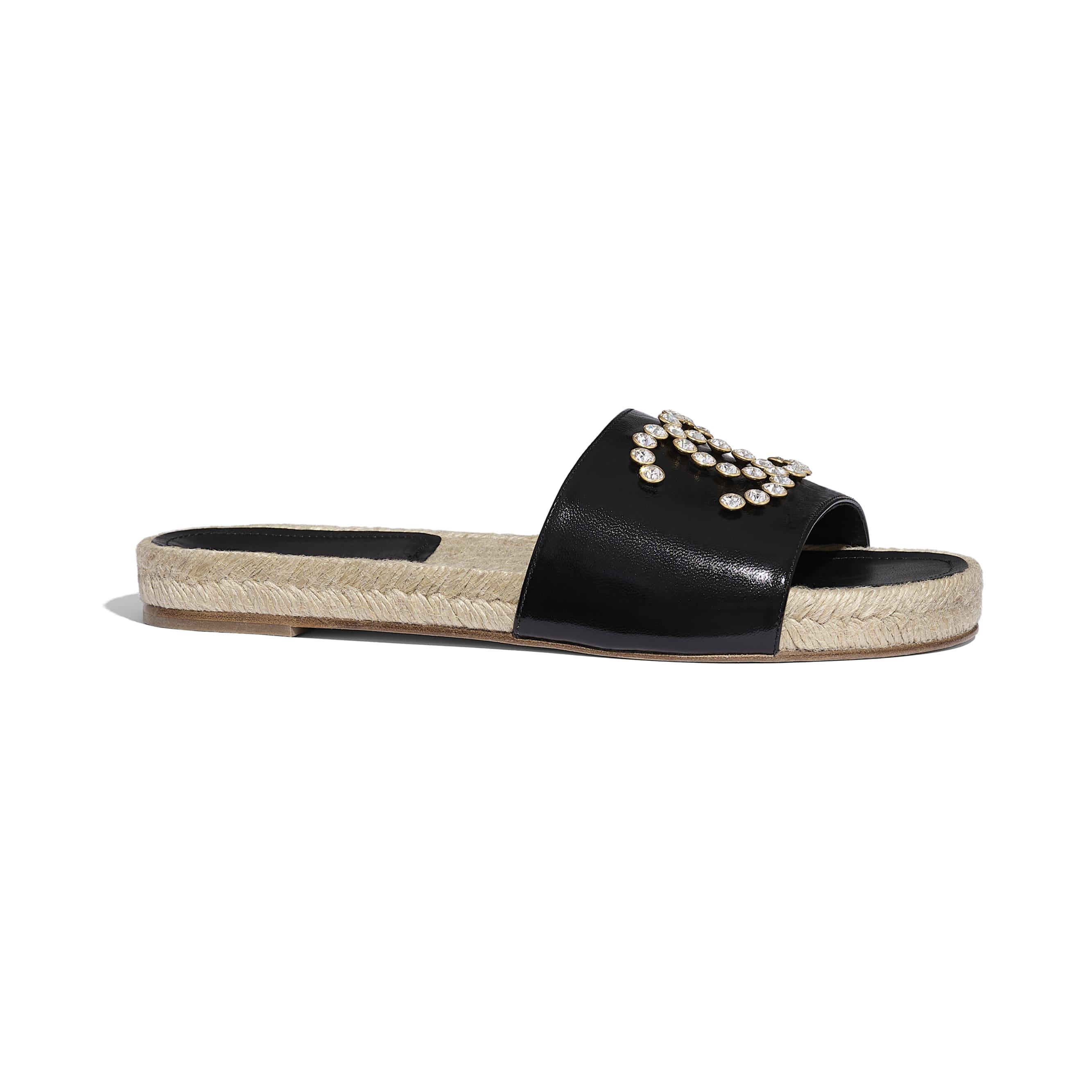 蜜兒拖鞋 - 黑 - 小牛漆皮 - 預設視圖 - 查看標準尺寸版本