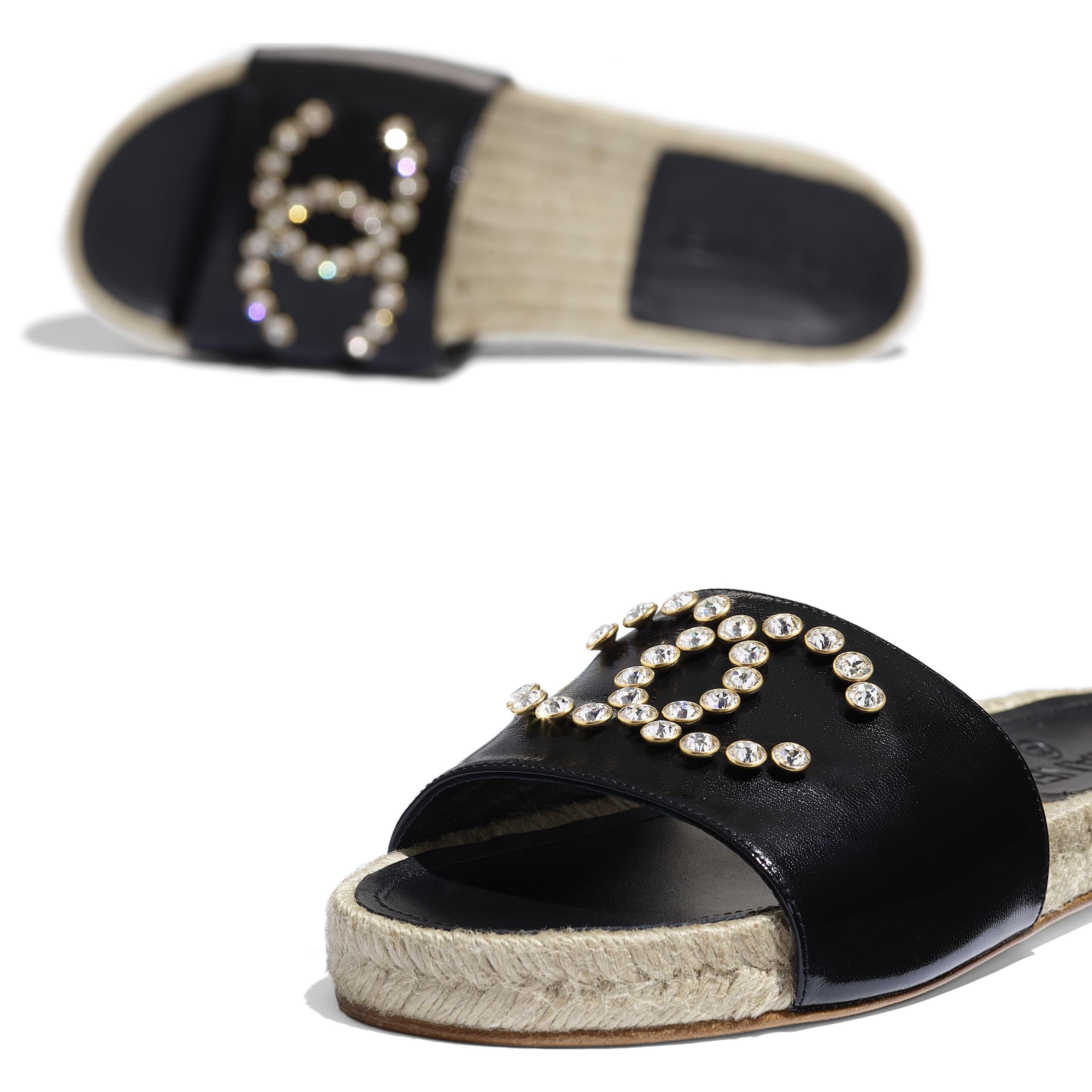 蜜兒拖鞋 - 黑 - 小牛漆皮 - 額外視圖 - 查看標準尺寸版本