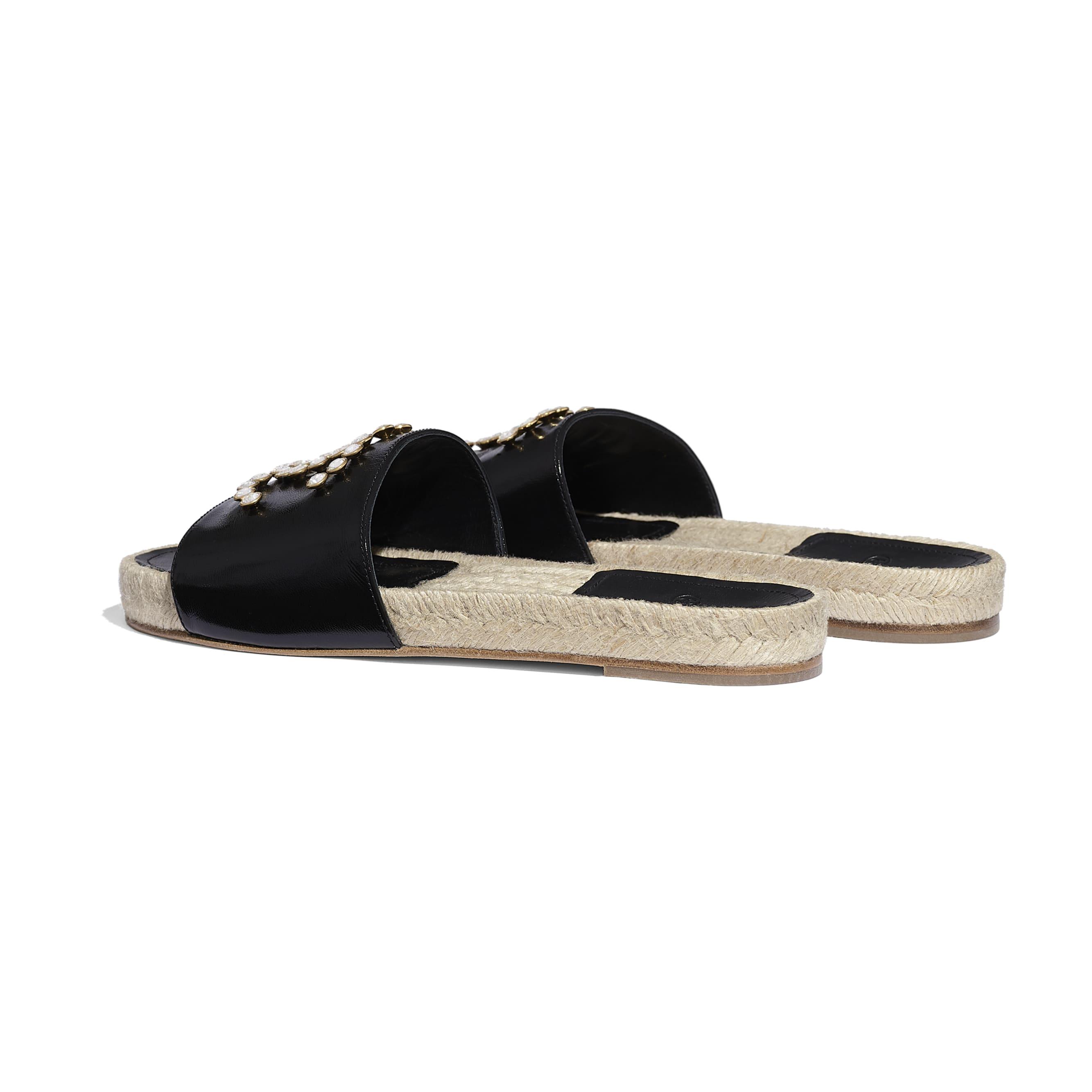 蜜兒拖鞋 - 黑 - 小牛漆皮 - 其他視圖 - 查看標準尺寸版本