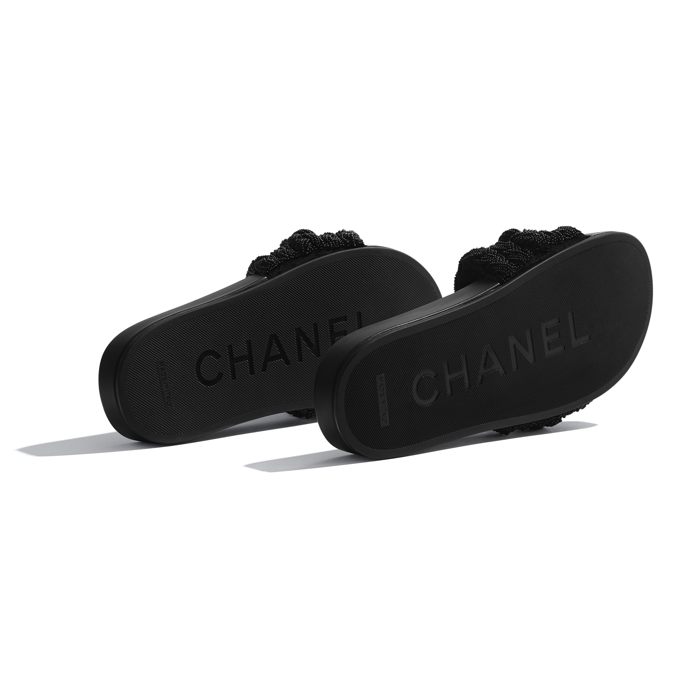 Mules - Black - Pearls & Lambskin - CHANEL - Extra view - see standard sized version