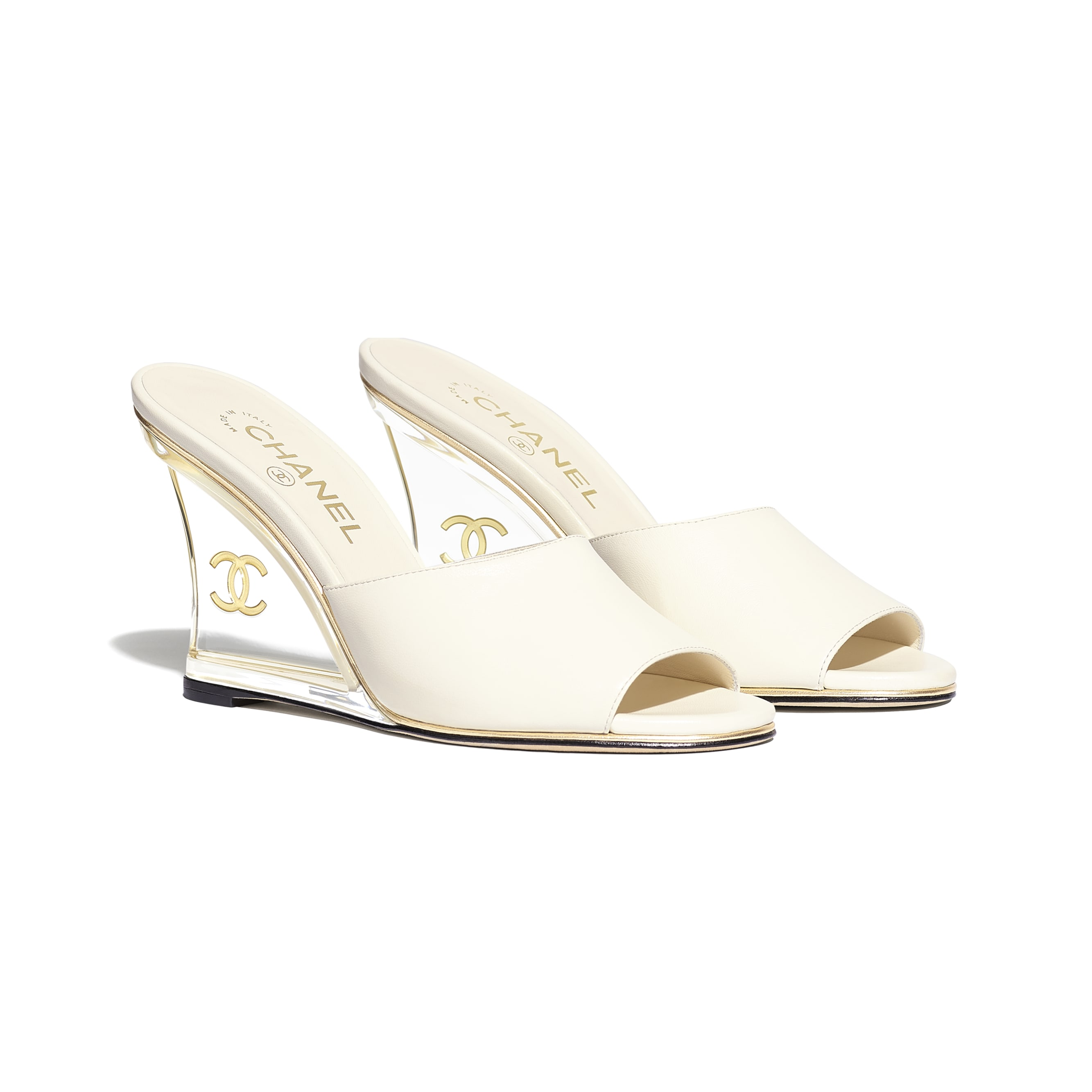 Mules - Ivory - Lambskin - Alternative view - see standard sized version