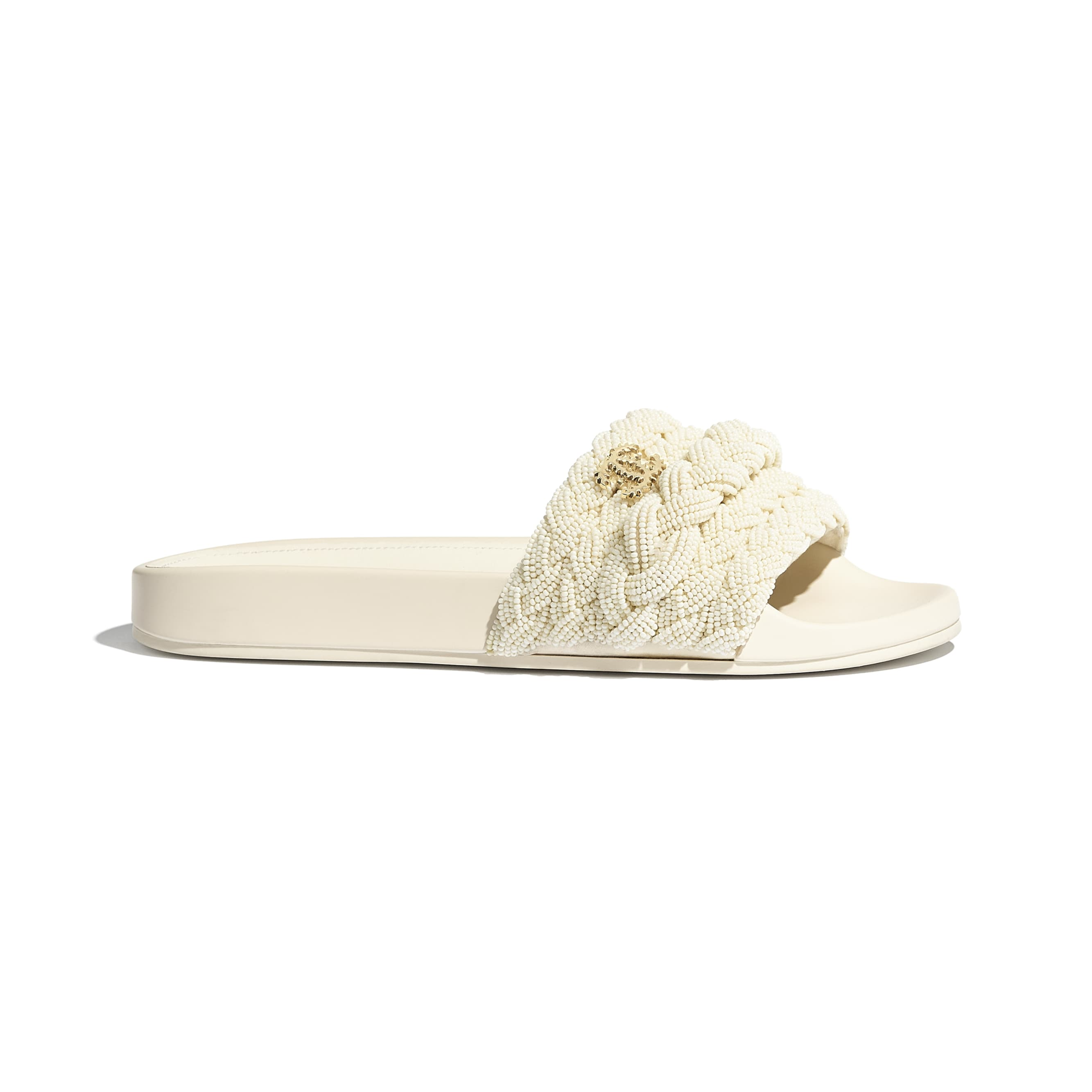 Mules - Ivory - Pearls & Lambskin - CHANEL - Default view - see standard sized version