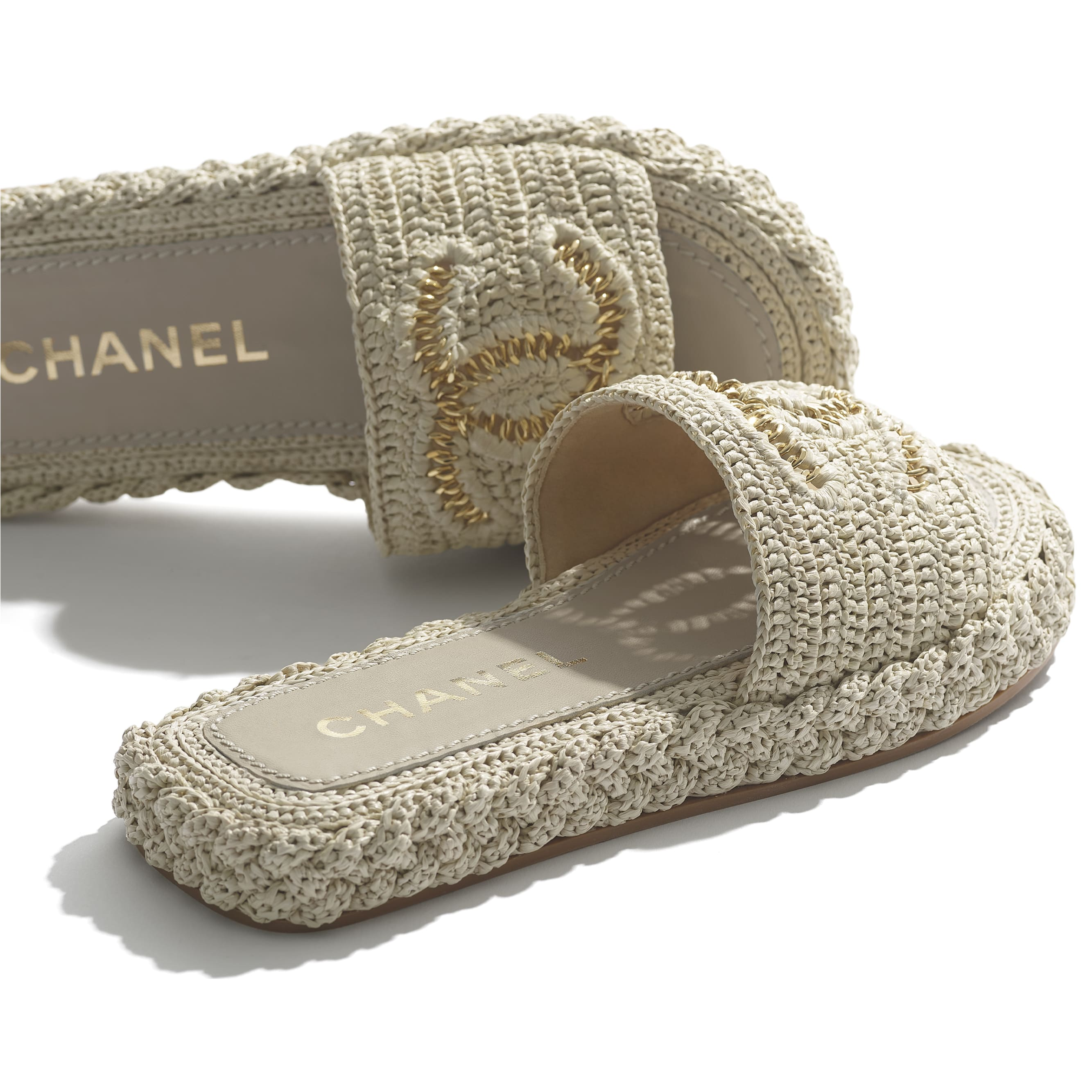 Mules - Light Beige - Cord - CHANEL - Extra view - see standard sized version