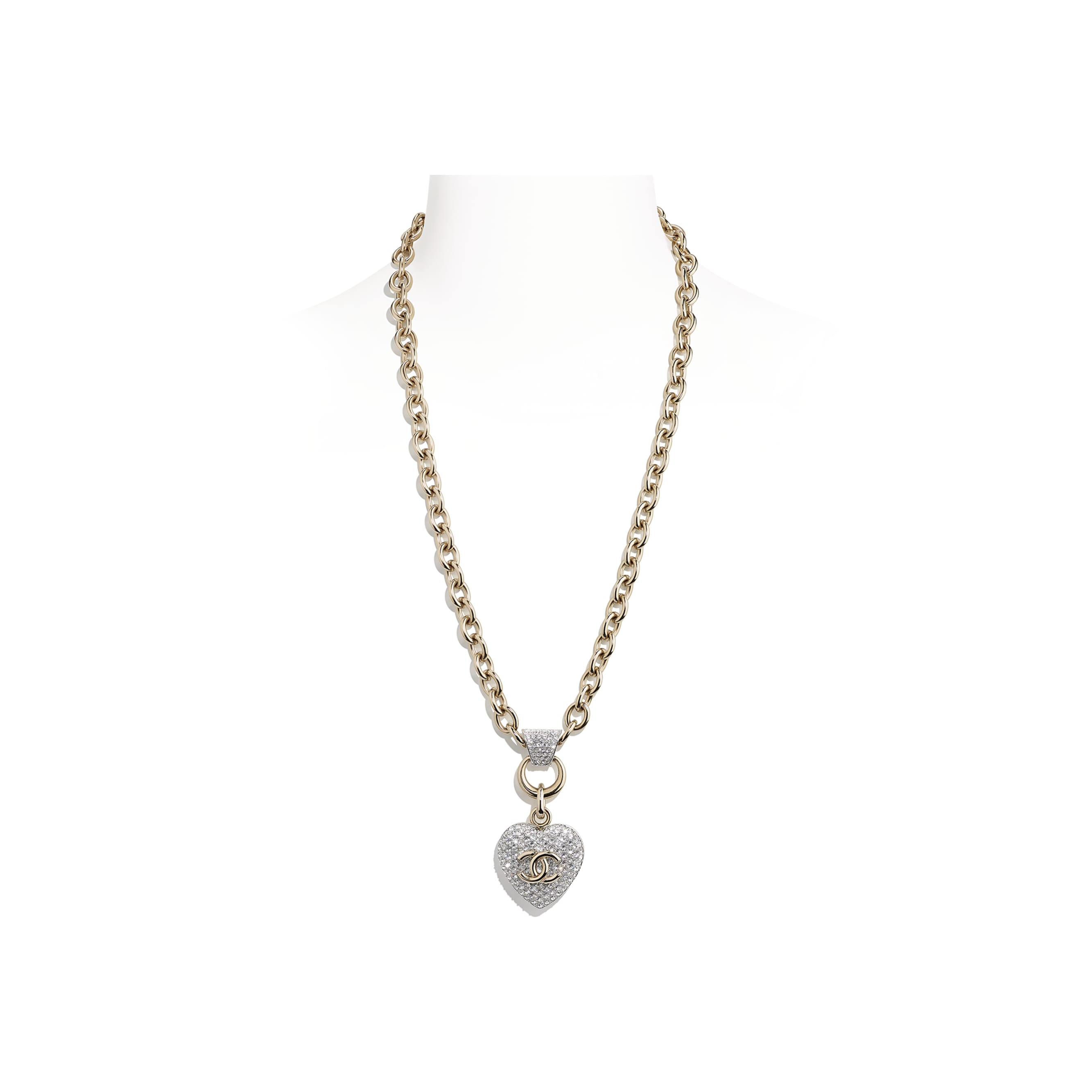 Necklace - Gold & Crystal - Metal & Strass - CHANEL - Default view - see standard sized version