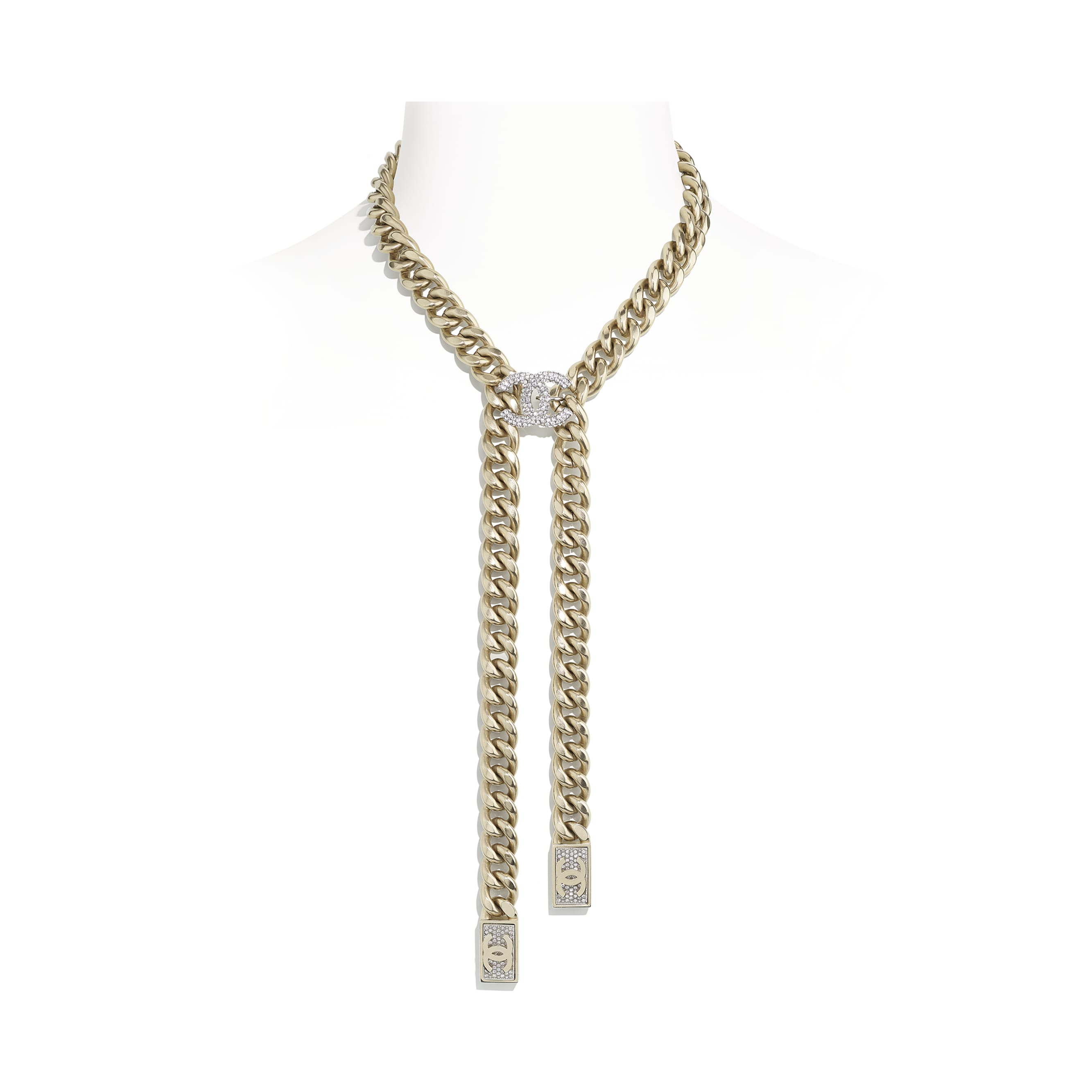 Necklace - Gold & Crystal - Metal & Diamantés - CHANEL - Default view - see standard sized version