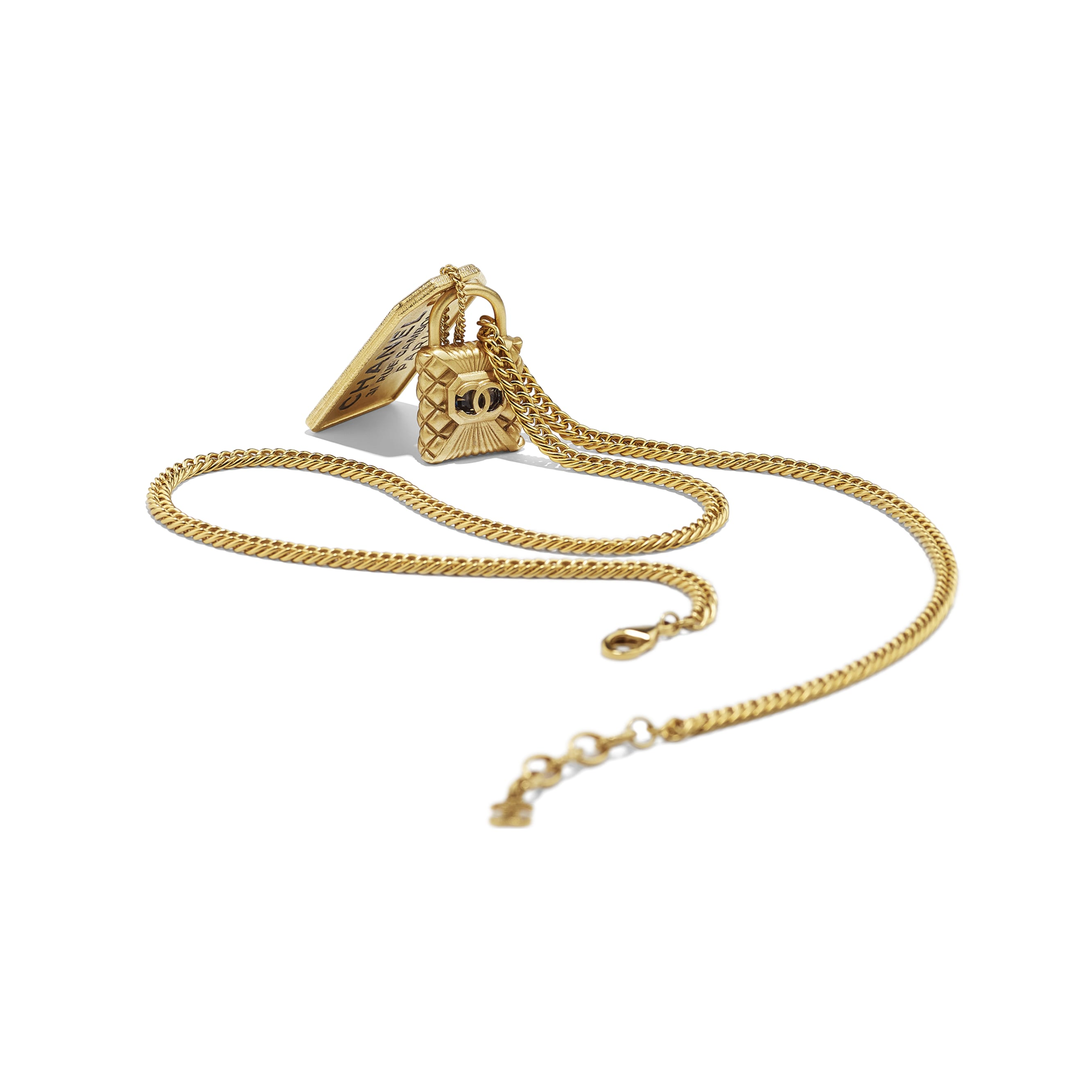 Necklace - Gold - Metal & Strass - CHANEL - Alternative view - see standard sized version