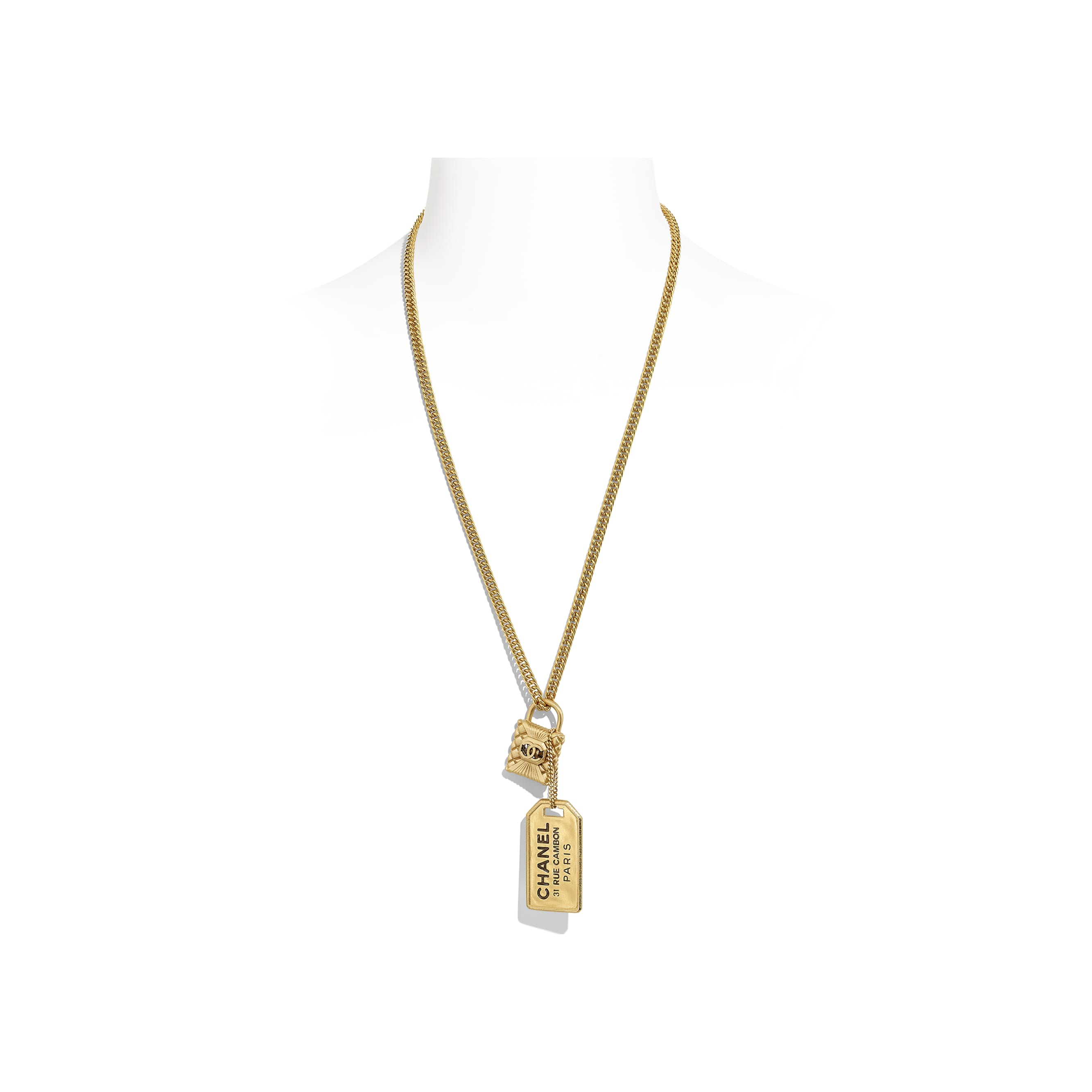 Necklace - Gold - Metal & Strass - CHANEL - Default view - see standard sized version