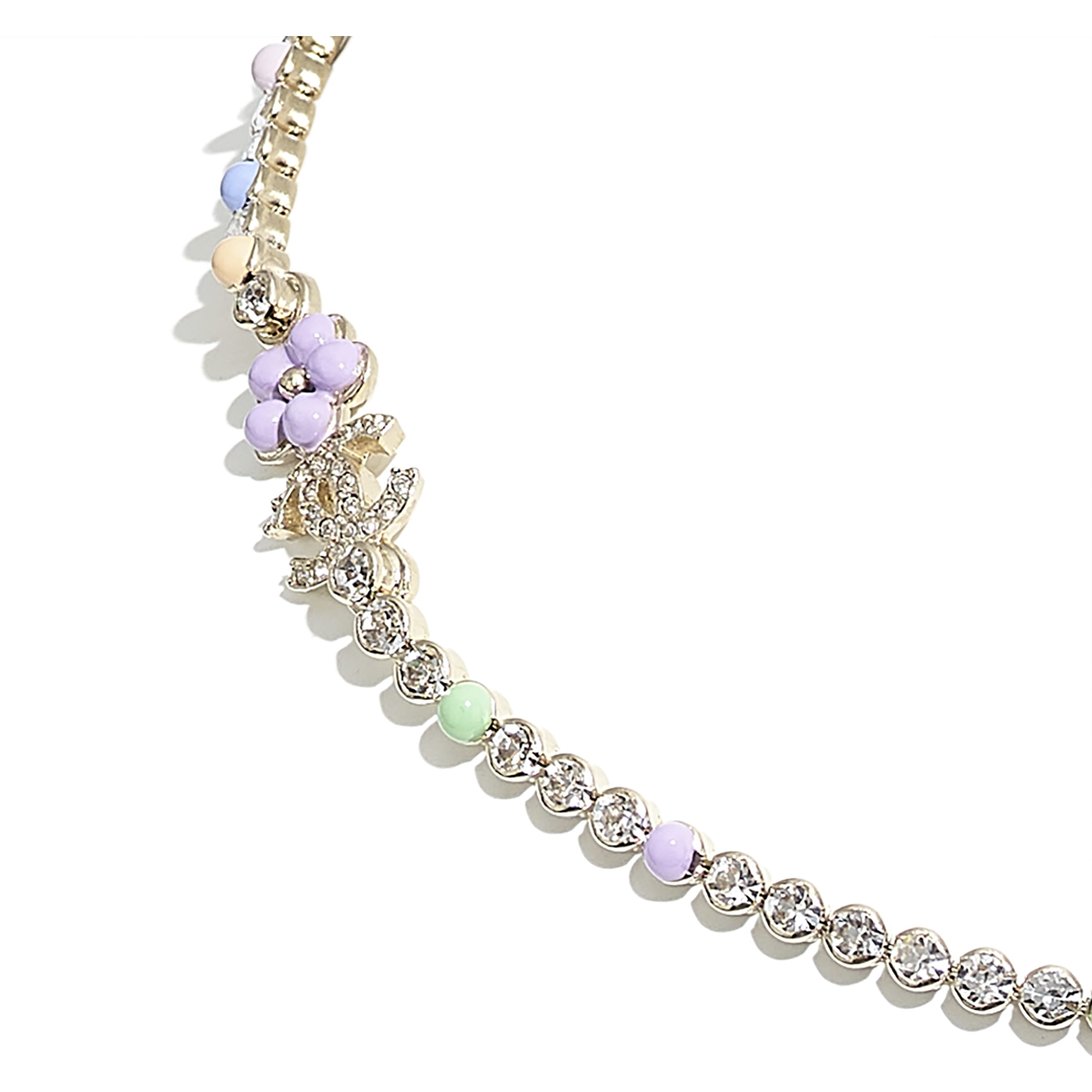 Necklace - Gold, Pearly White, Multicolour & Crystal - Metal, Glass Pearls & Diamantés - CHANEL - Other view - see standard sized version